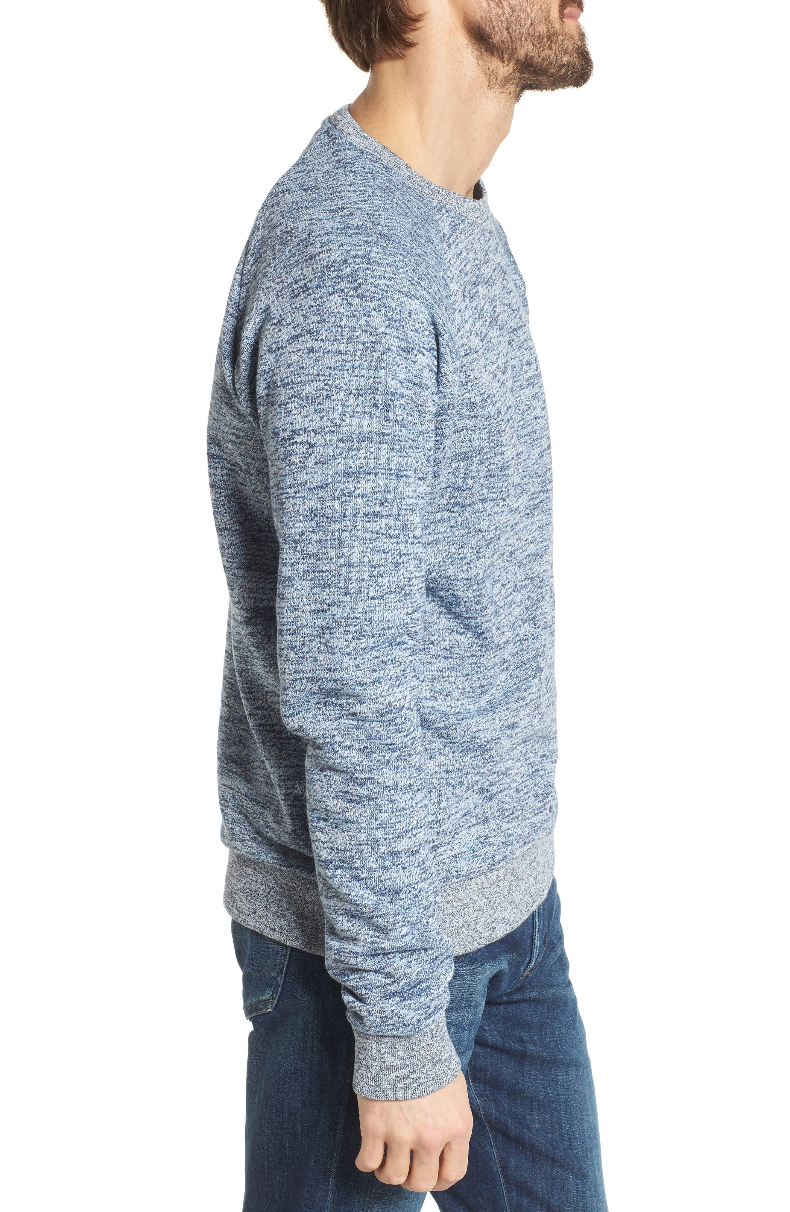Mélange Sweatshirt,                             Alternate thumbnail 3, color,