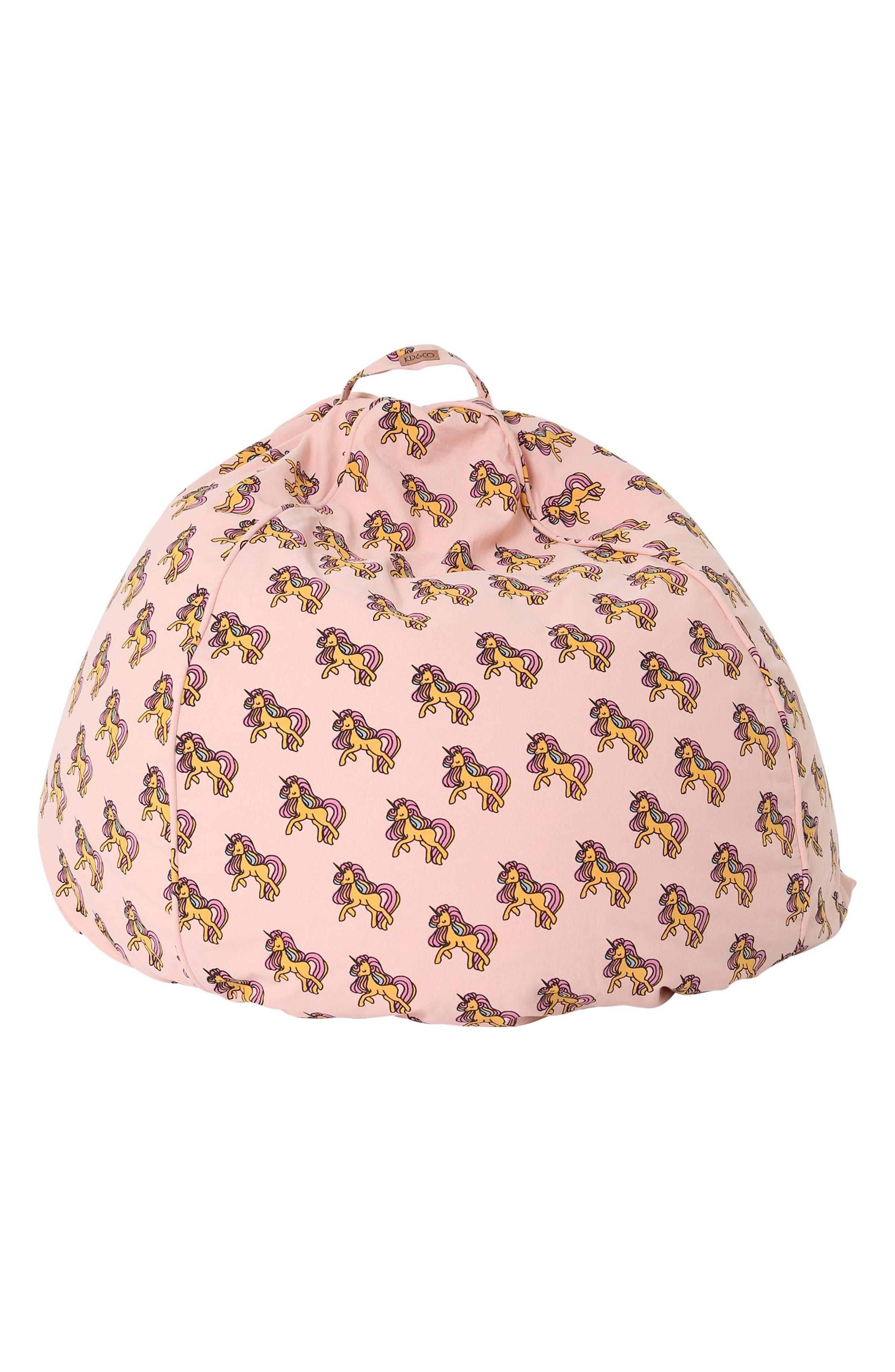 Unicorn Cotton Canvas Beanbag Cover,                             Main thumbnail 1, color,                             MULTI