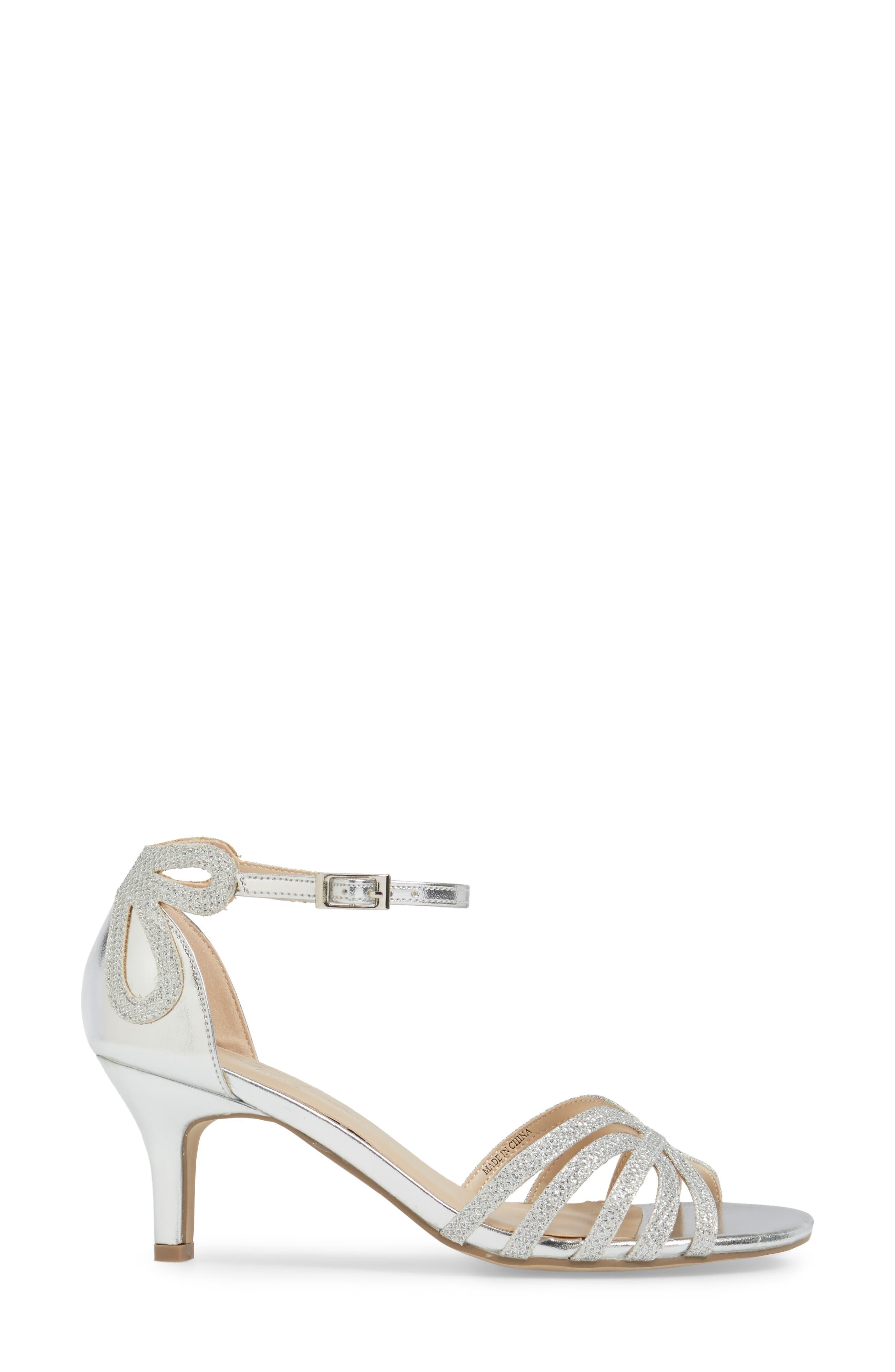 Melby Ankle Strap Sandal,                             Alternate thumbnail 3, color,                             SILVER
