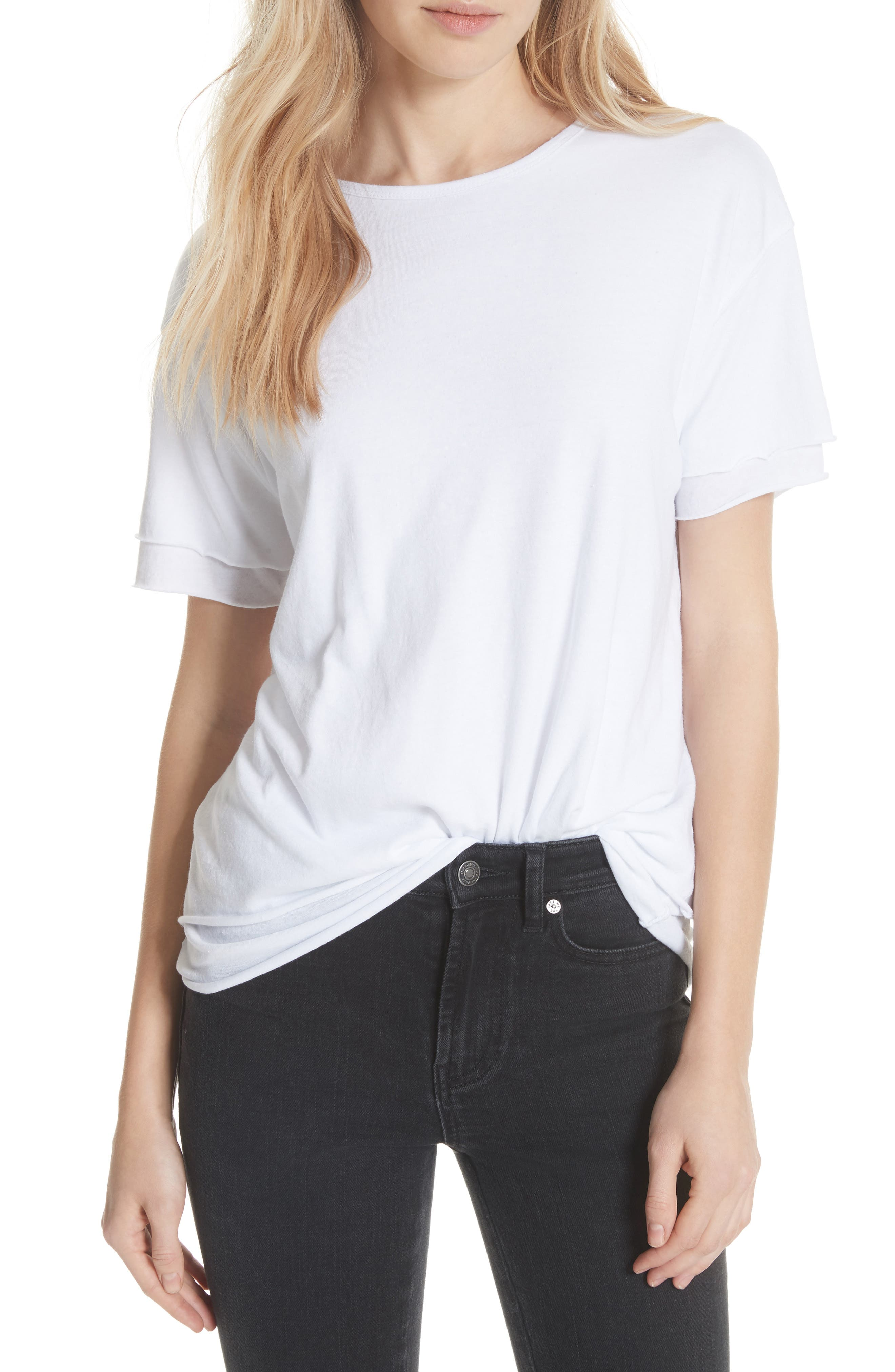 We the Free by Free People Cloud Nine Tee,                             Main thumbnail 2, color,