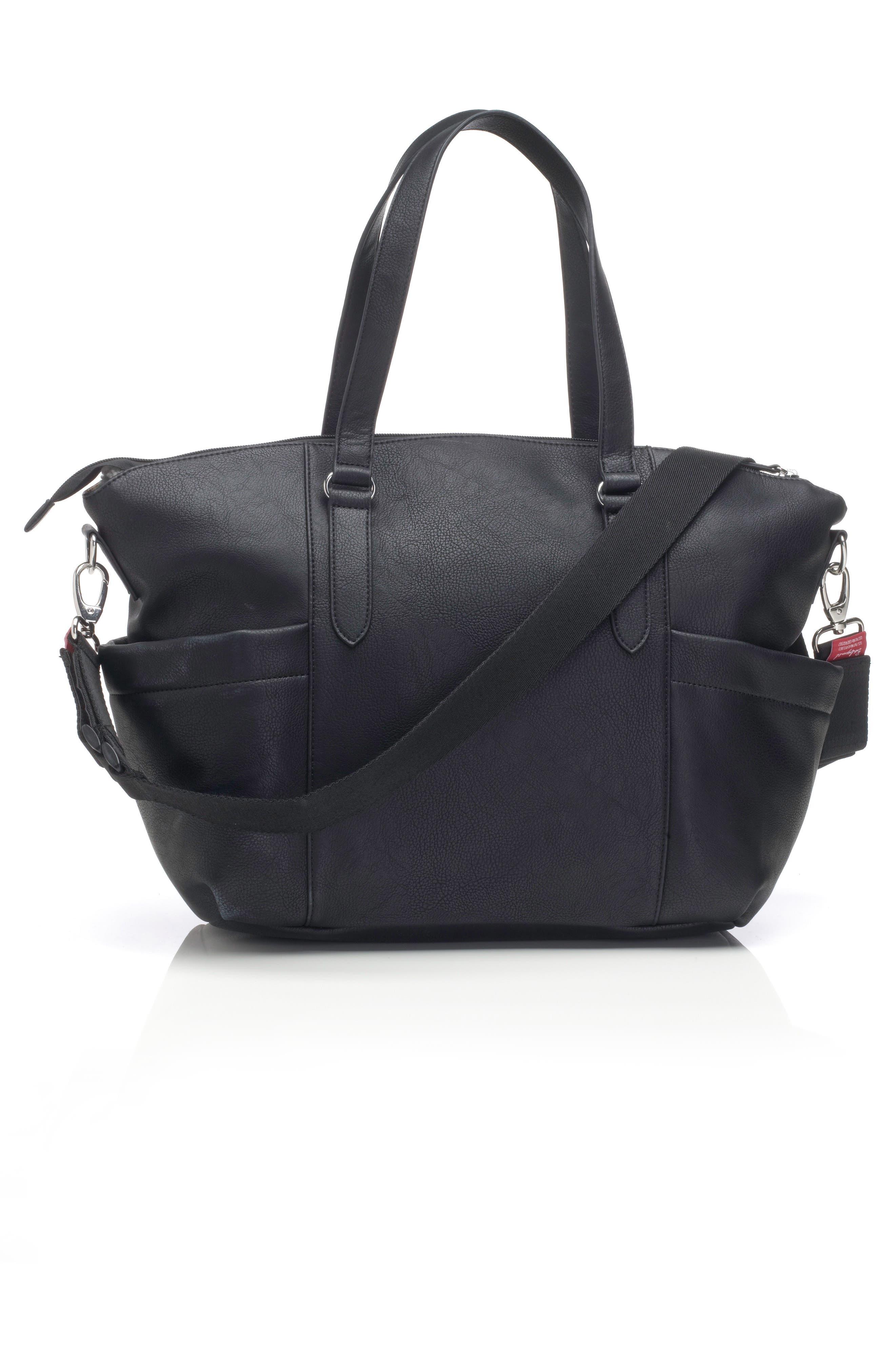 Anya Diaper Bag,                             Alternate thumbnail 3, color,                             BLACK