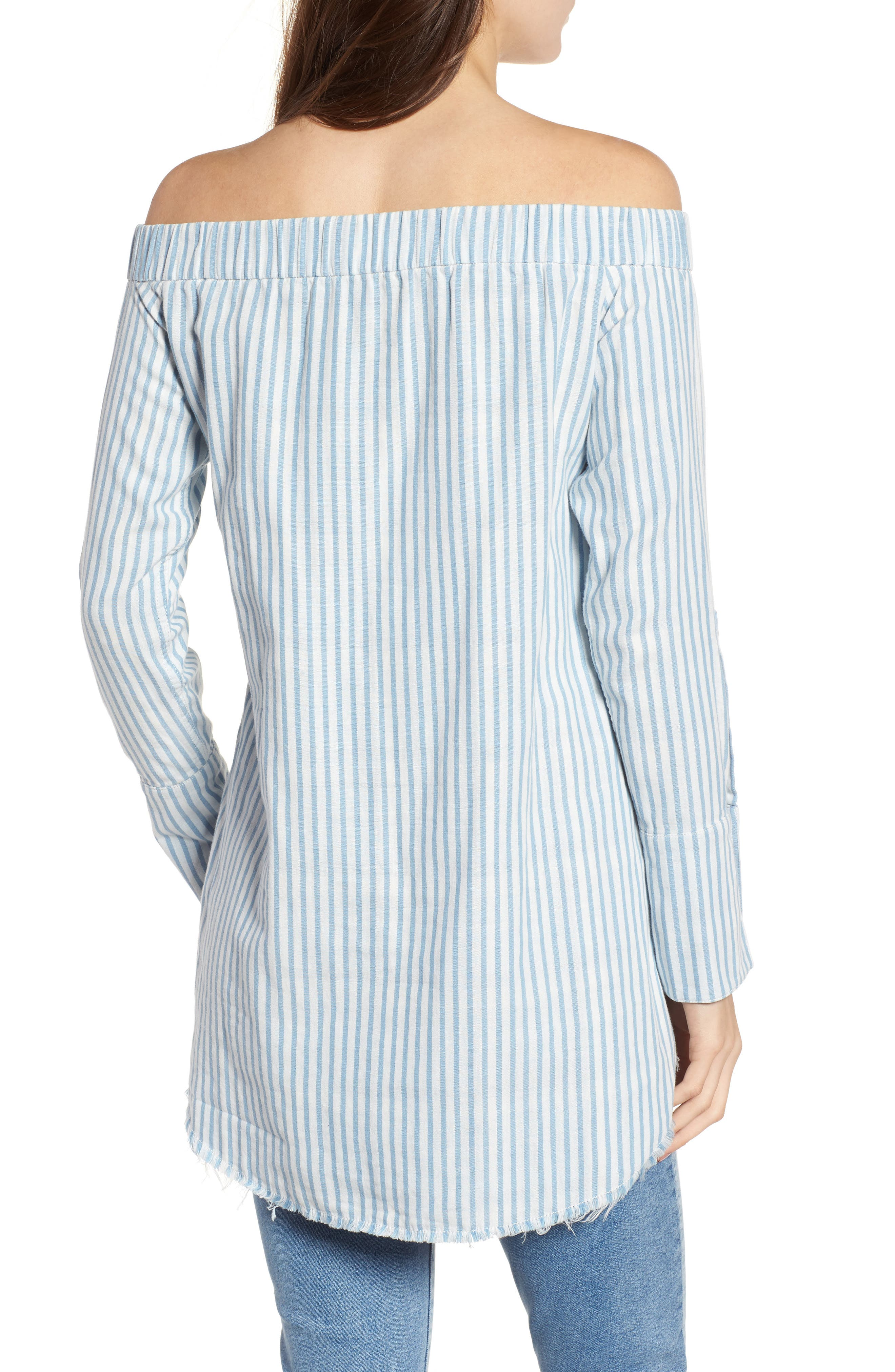 Adelphi & Willoughby Off the Shoulder Shirt,                             Alternate thumbnail 2, color,                             430