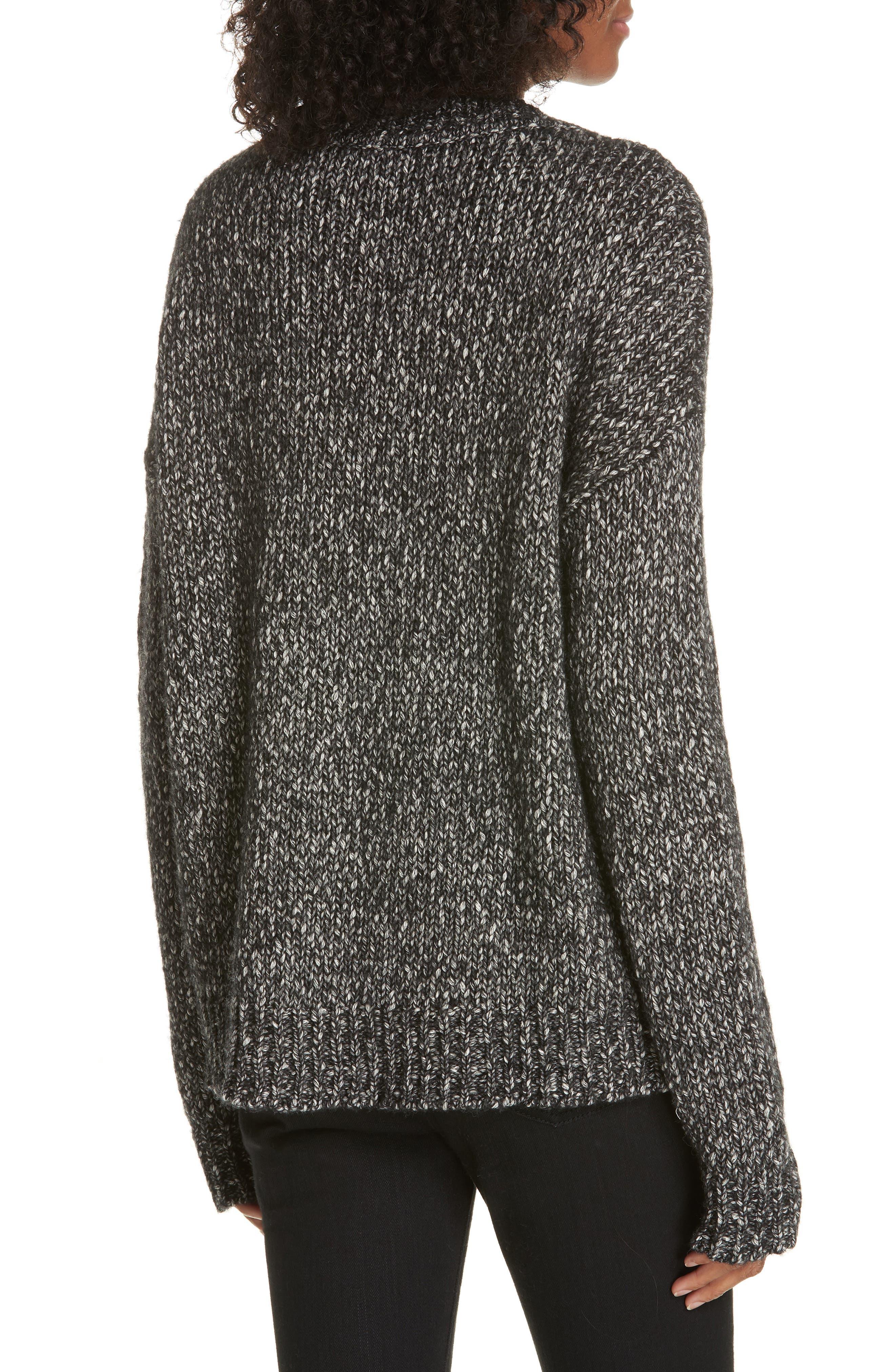Parkland Slouchy Cotton & Wool Sweater,                             Alternate thumbnail 2, color,                             LEAD MELANGE
