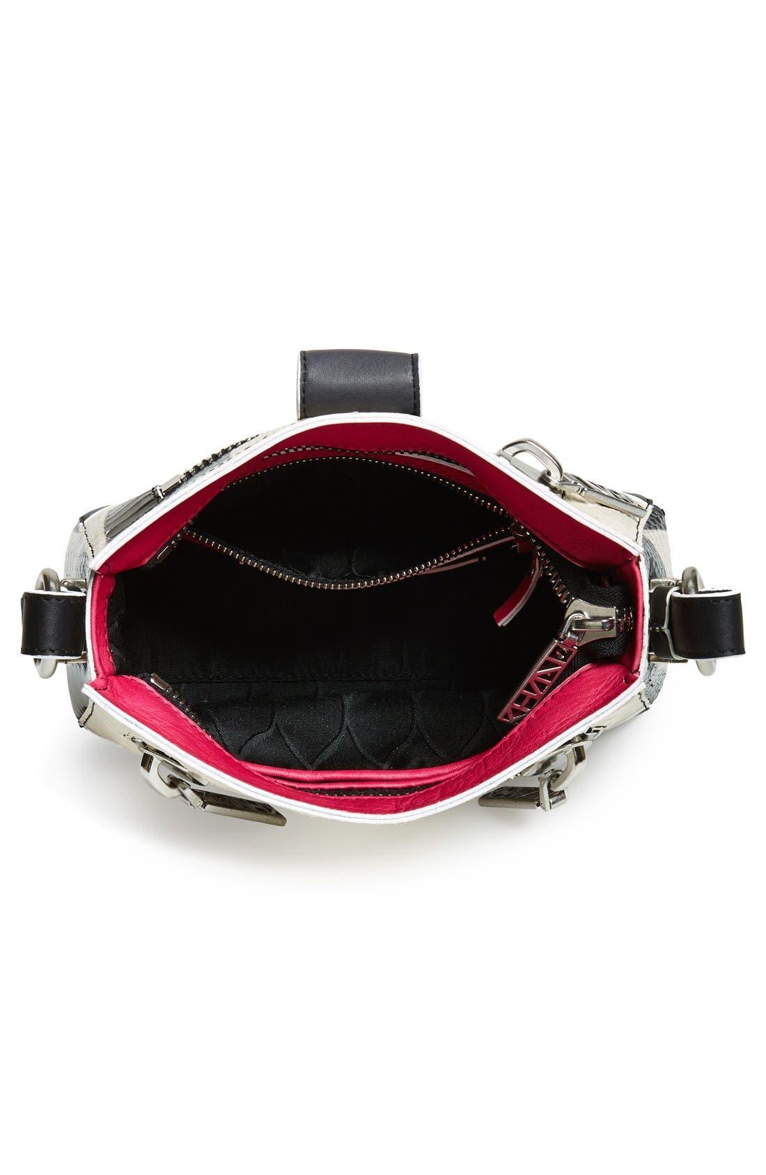 KENZO,                             'Small Kalifornia' Snake Embossed Leather Crossbody Bag,                             Alternate thumbnail 4, color,                             100