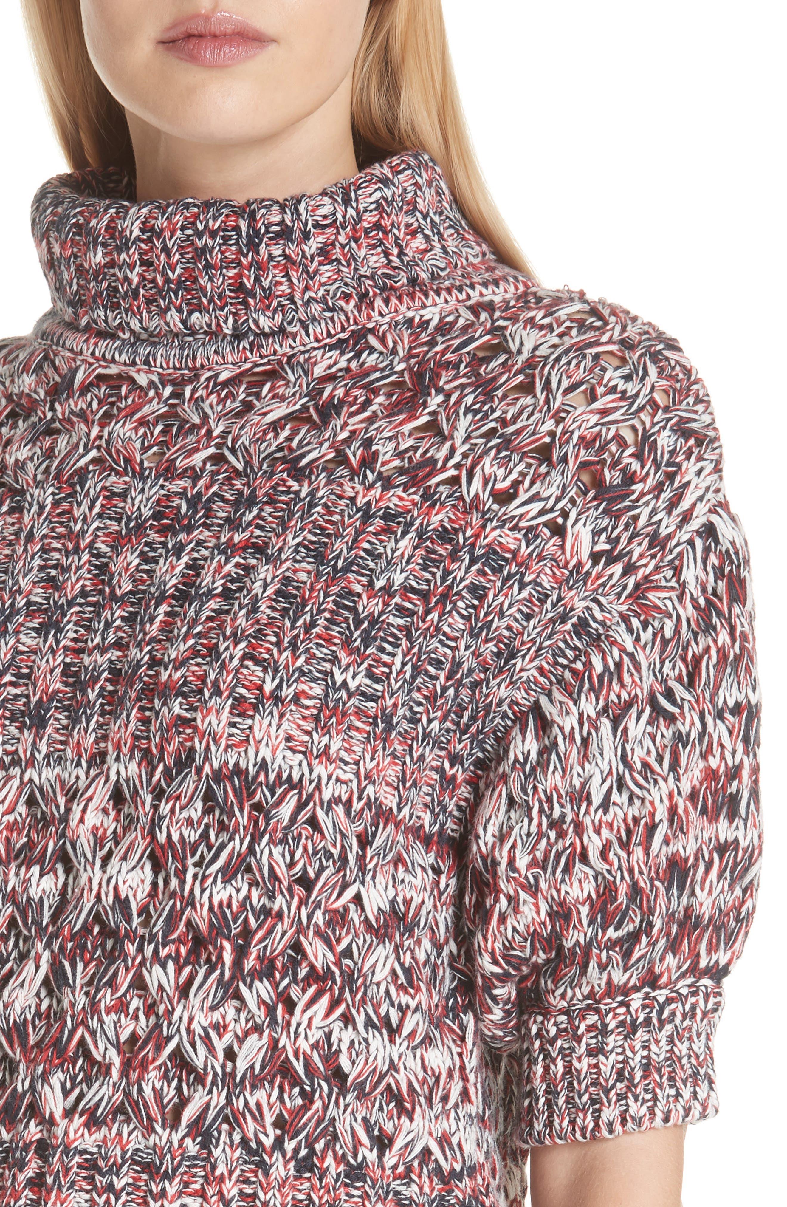Mélange Cotton & Wool Sweater,                             Alternate thumbnail 4, color,                             600