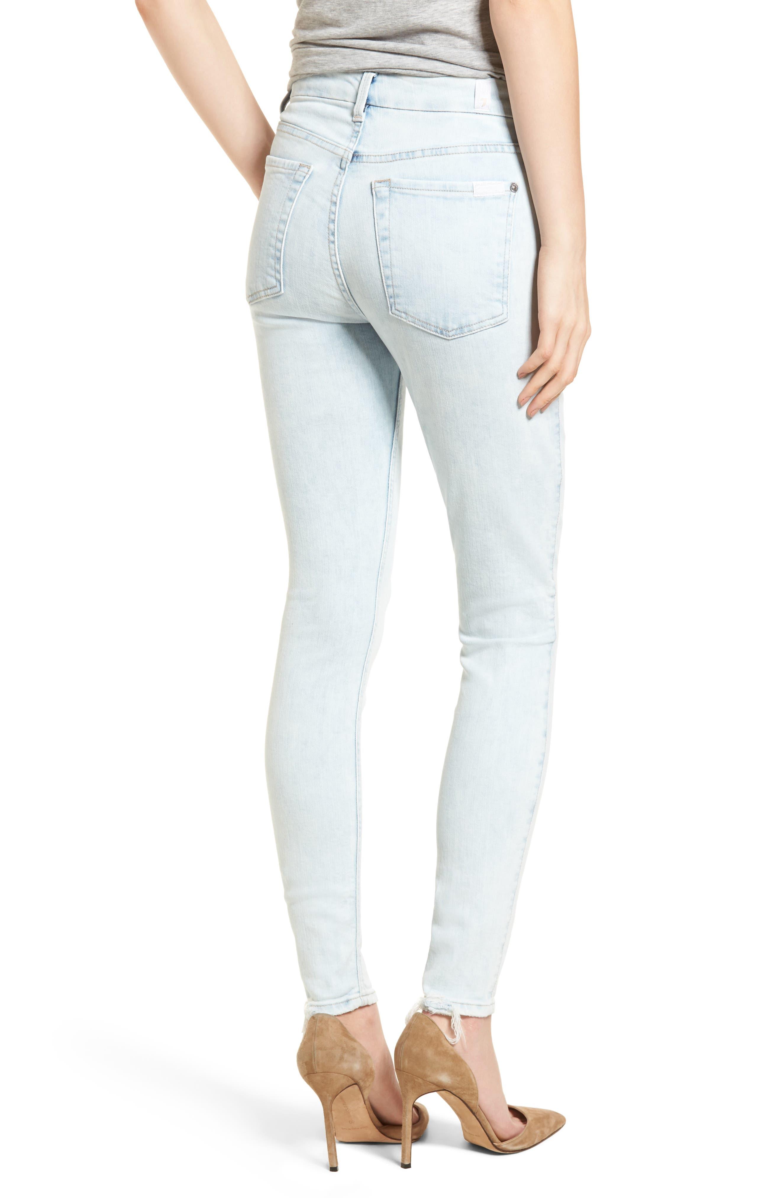 High Waist Ankle Skinny Jeans,                             Alternate thumbnail 2, color,                             401