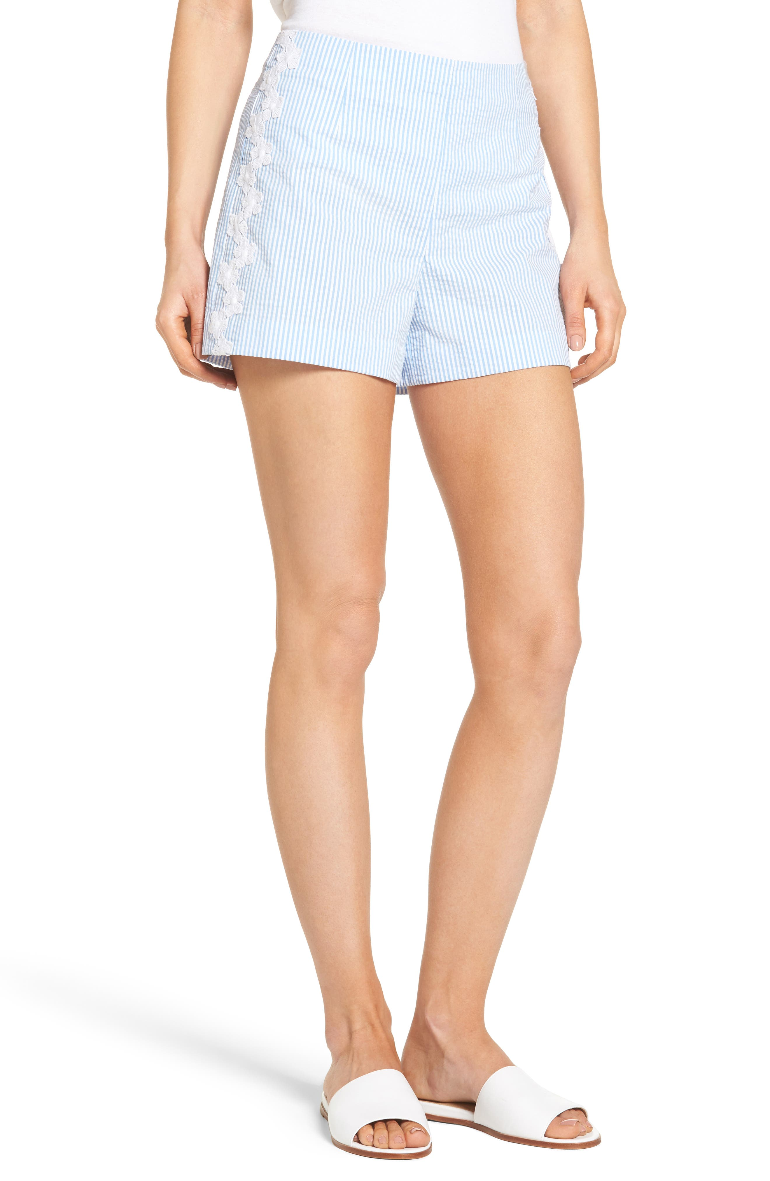 Seersucker Shorts,                             Main thumbnail 1, color,                             403