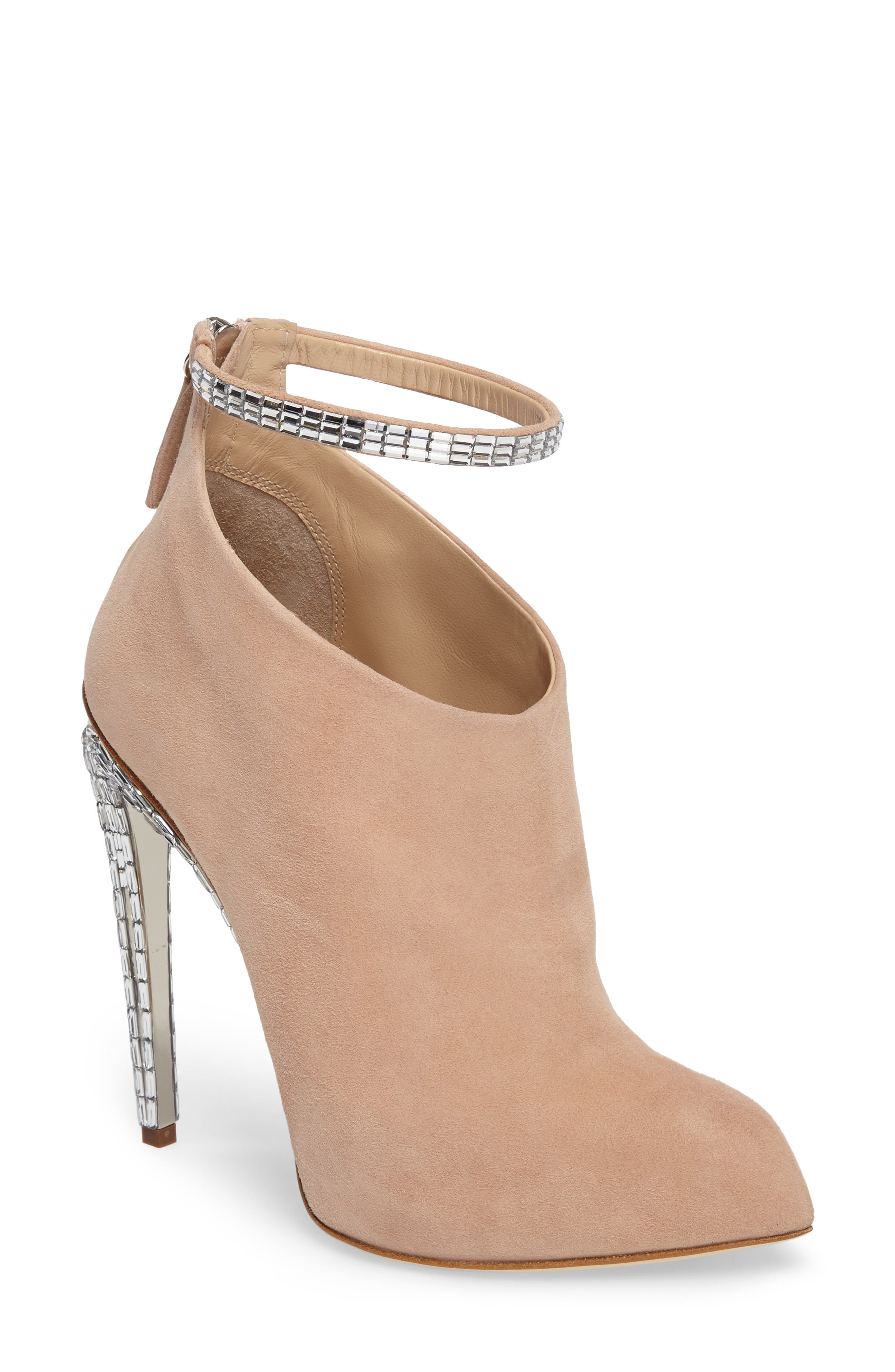 Giuseppe for Jennifer Lopez Ankle Strap Bootie,                         Main,                         color,