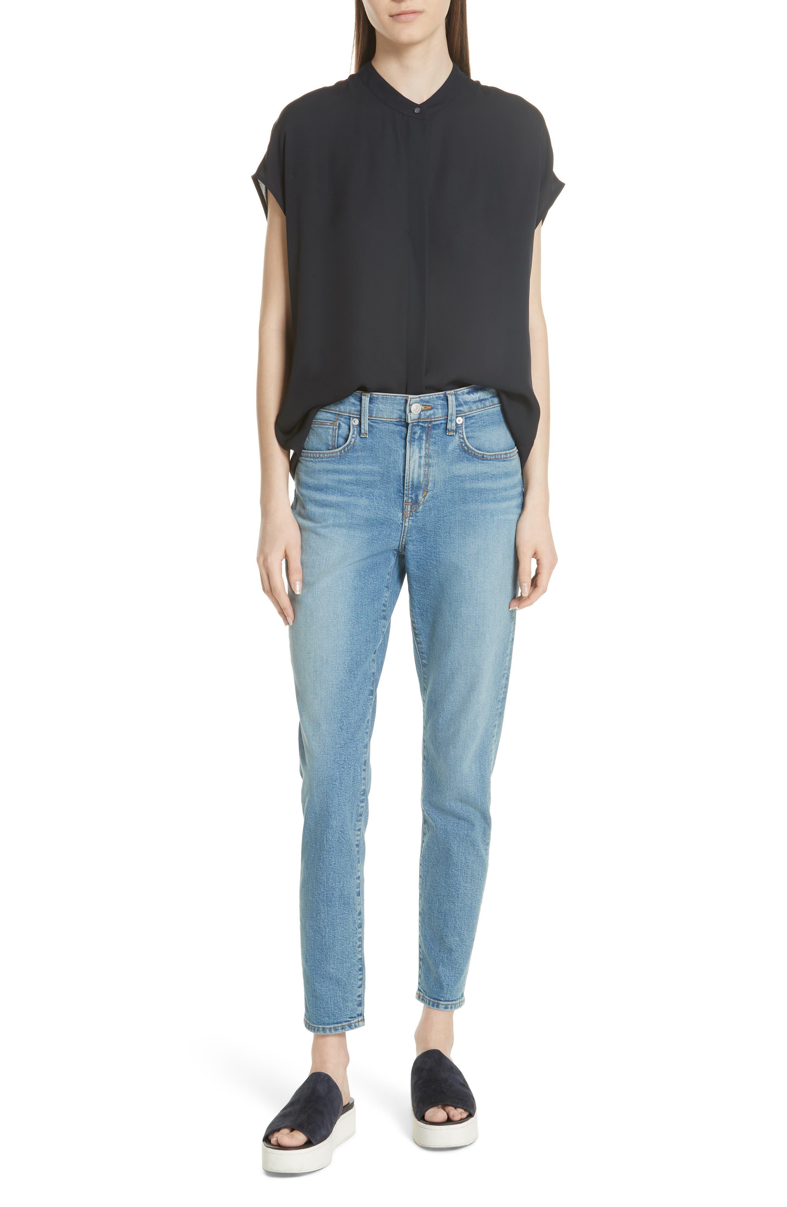 5-Pocket Skinny Jeans,                             Alternate thumbnail 7, color,                             LIGHT WASH