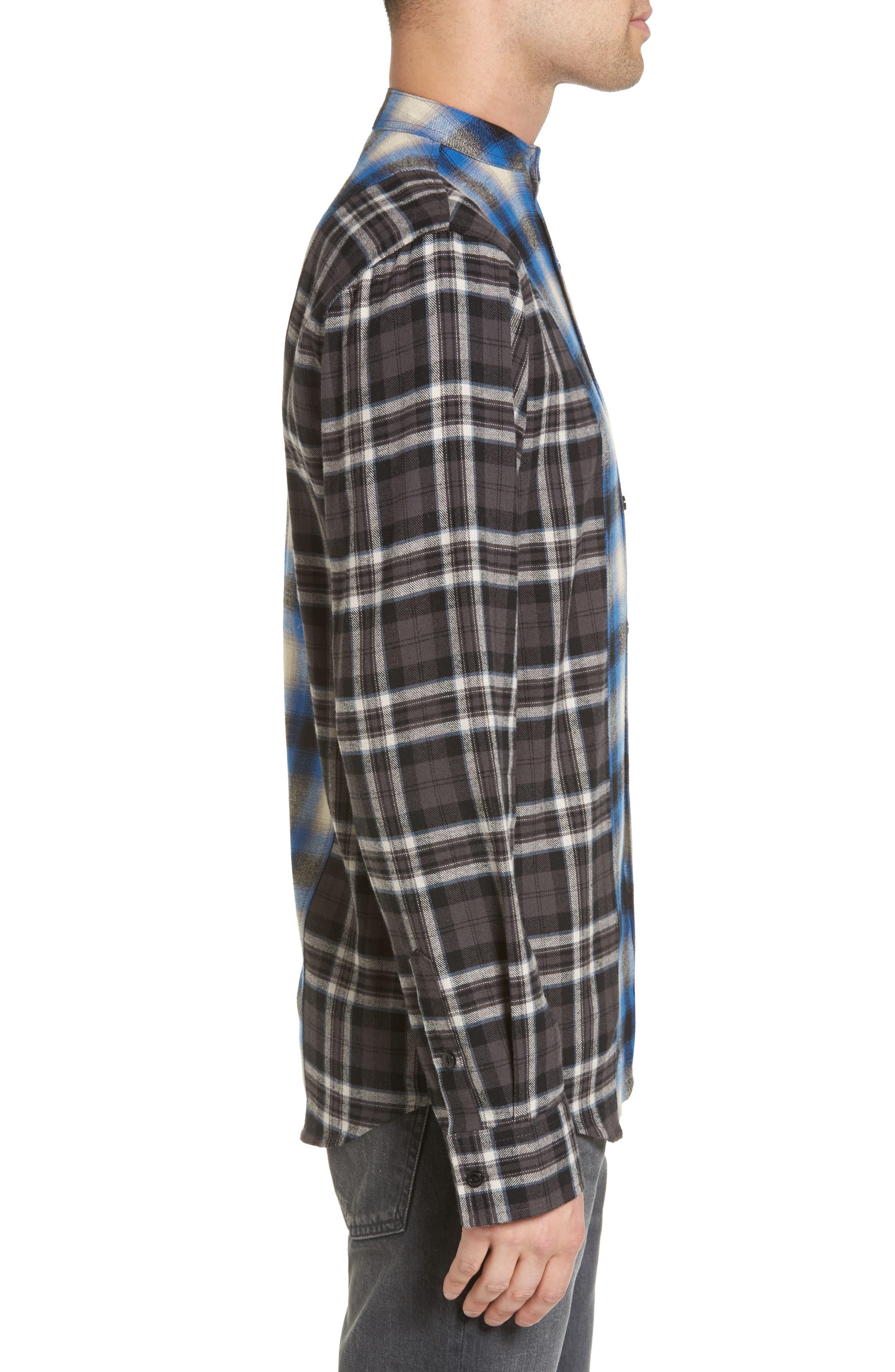 Multi Plaid Woven Shirt,                             Alternate thumbnail 3, color,                             001