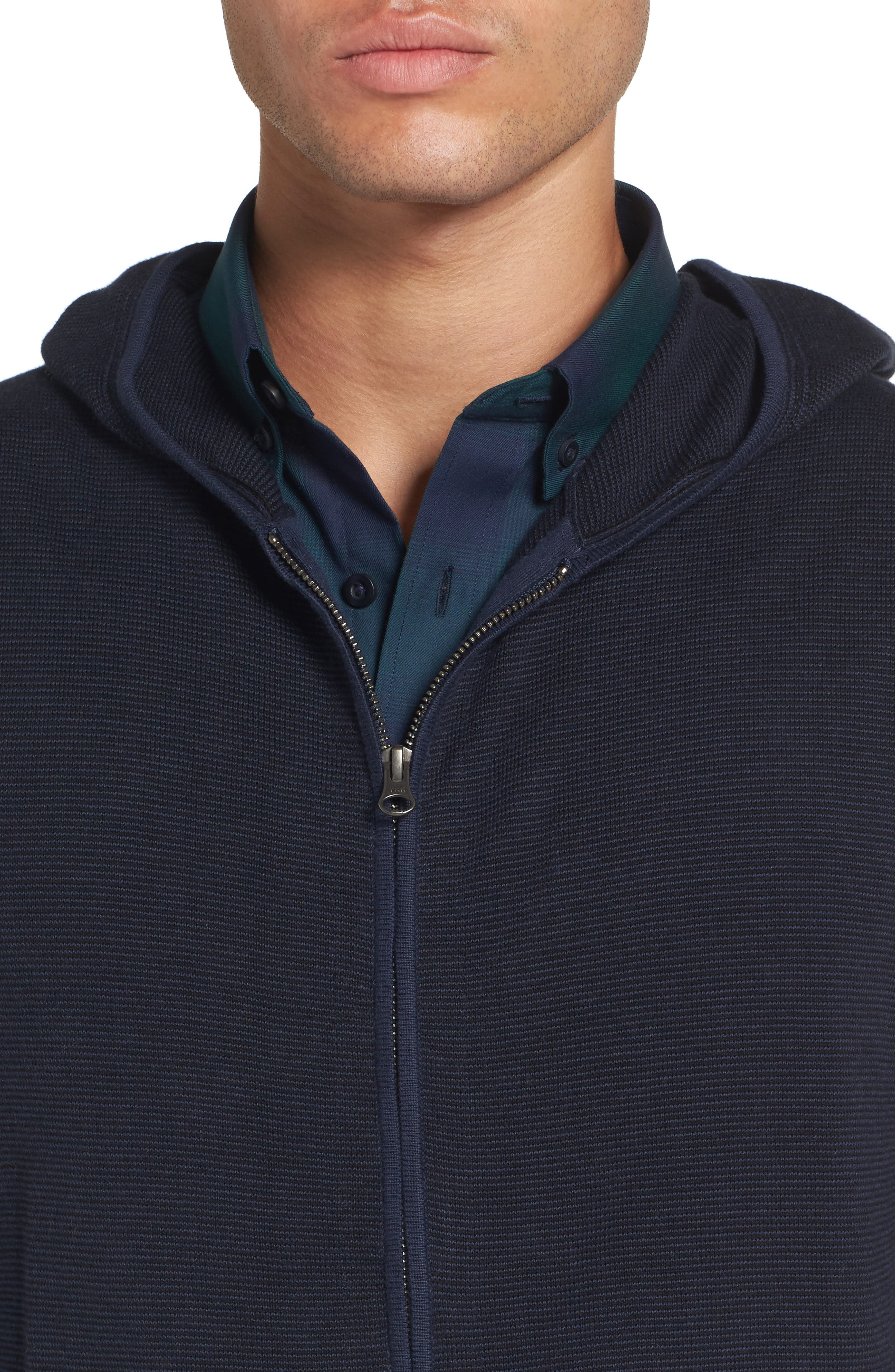 Zip Front Hooded Sweater,                             Alternate thumbnail 12, color,