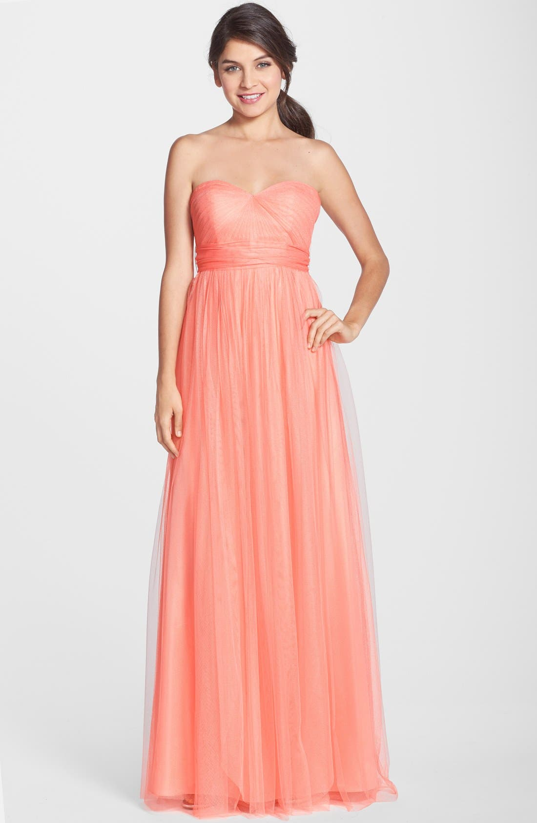 Annabelle Convertible Tulle Column Dress,                             Main thumbnail 33, color,
