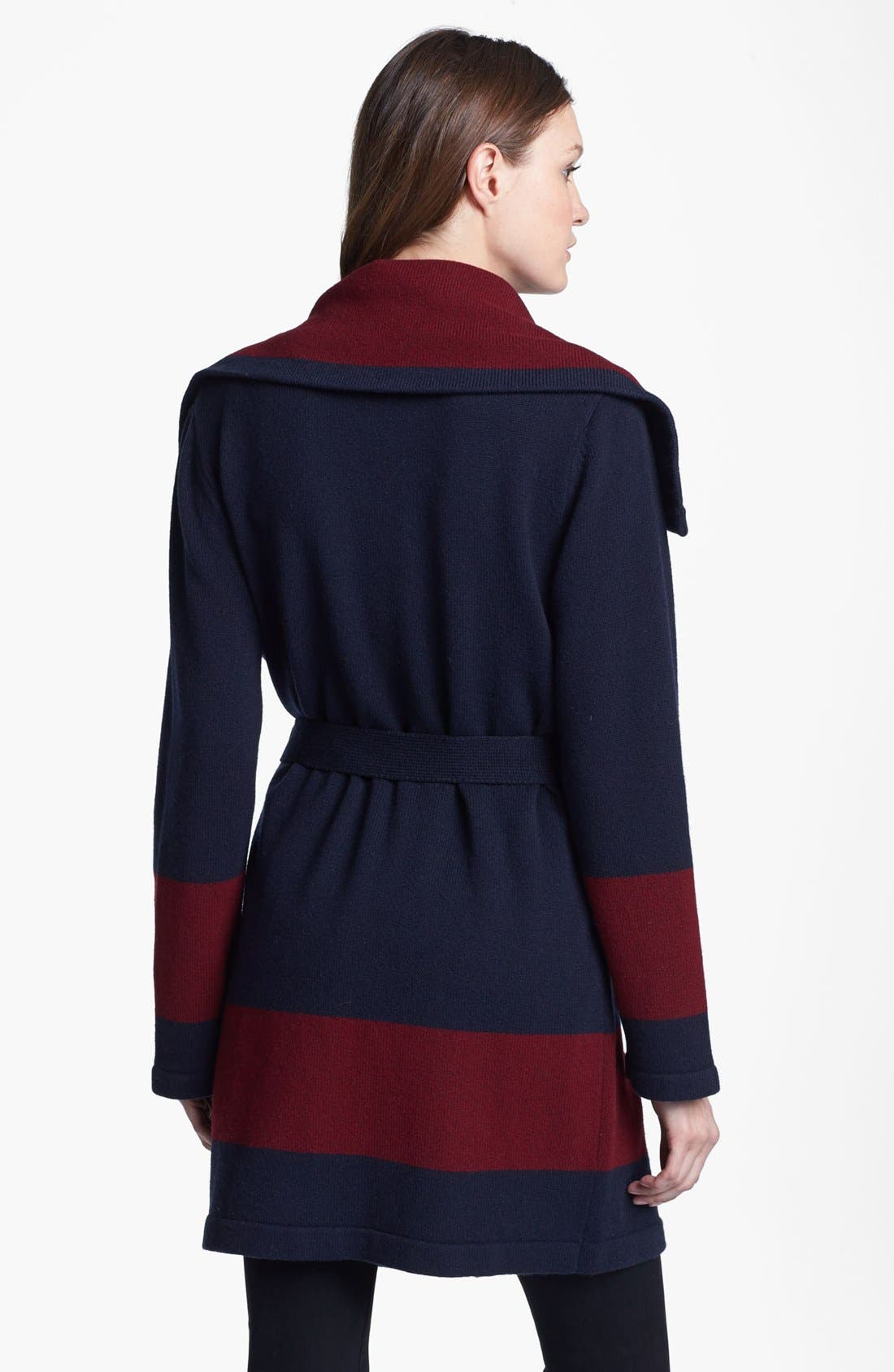 'Archie' Belted Wool Sweater,                             Alternate thumbnail 3, color,                             438