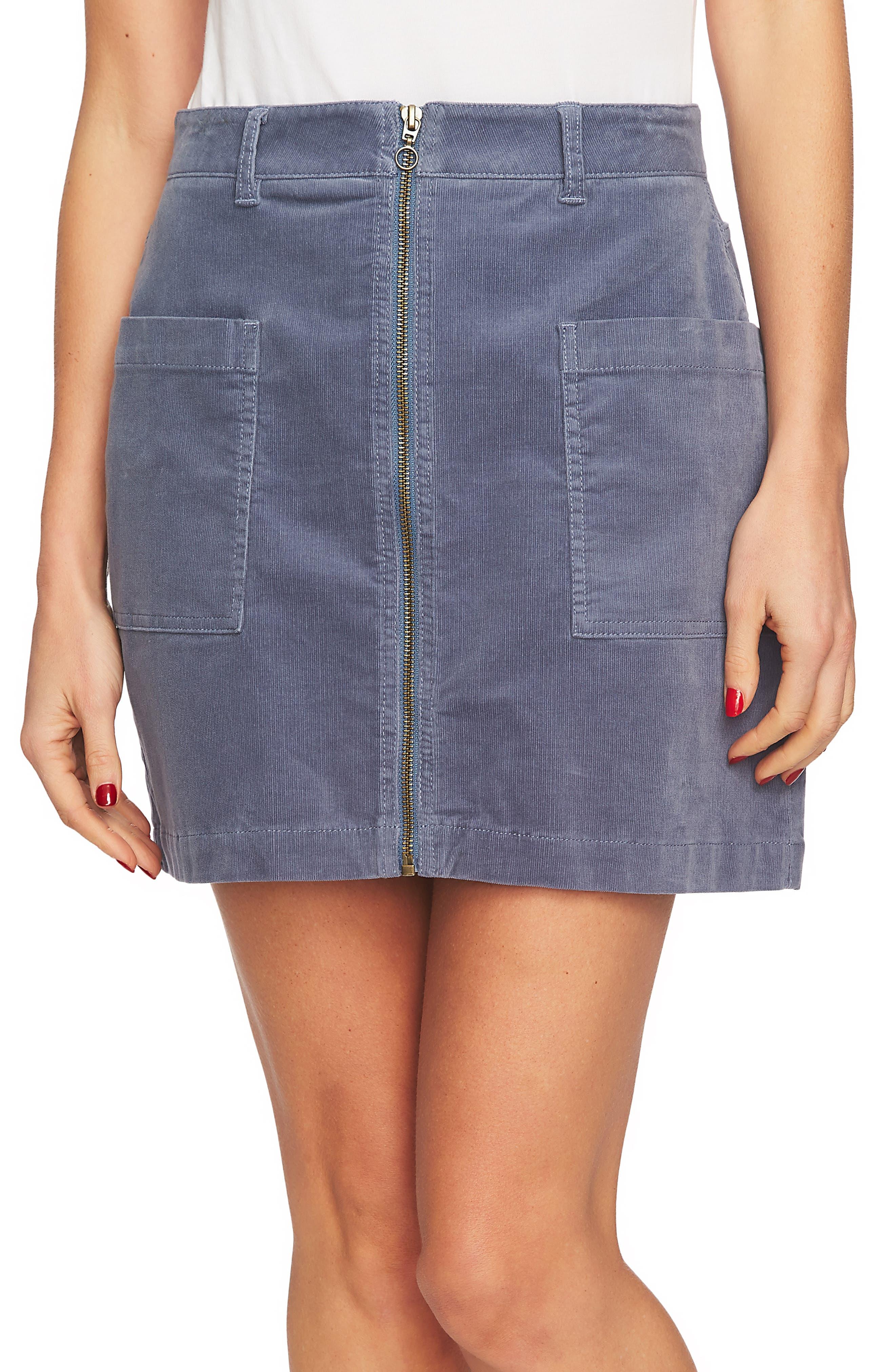 1.state Corduroy Miniskirt, Blue