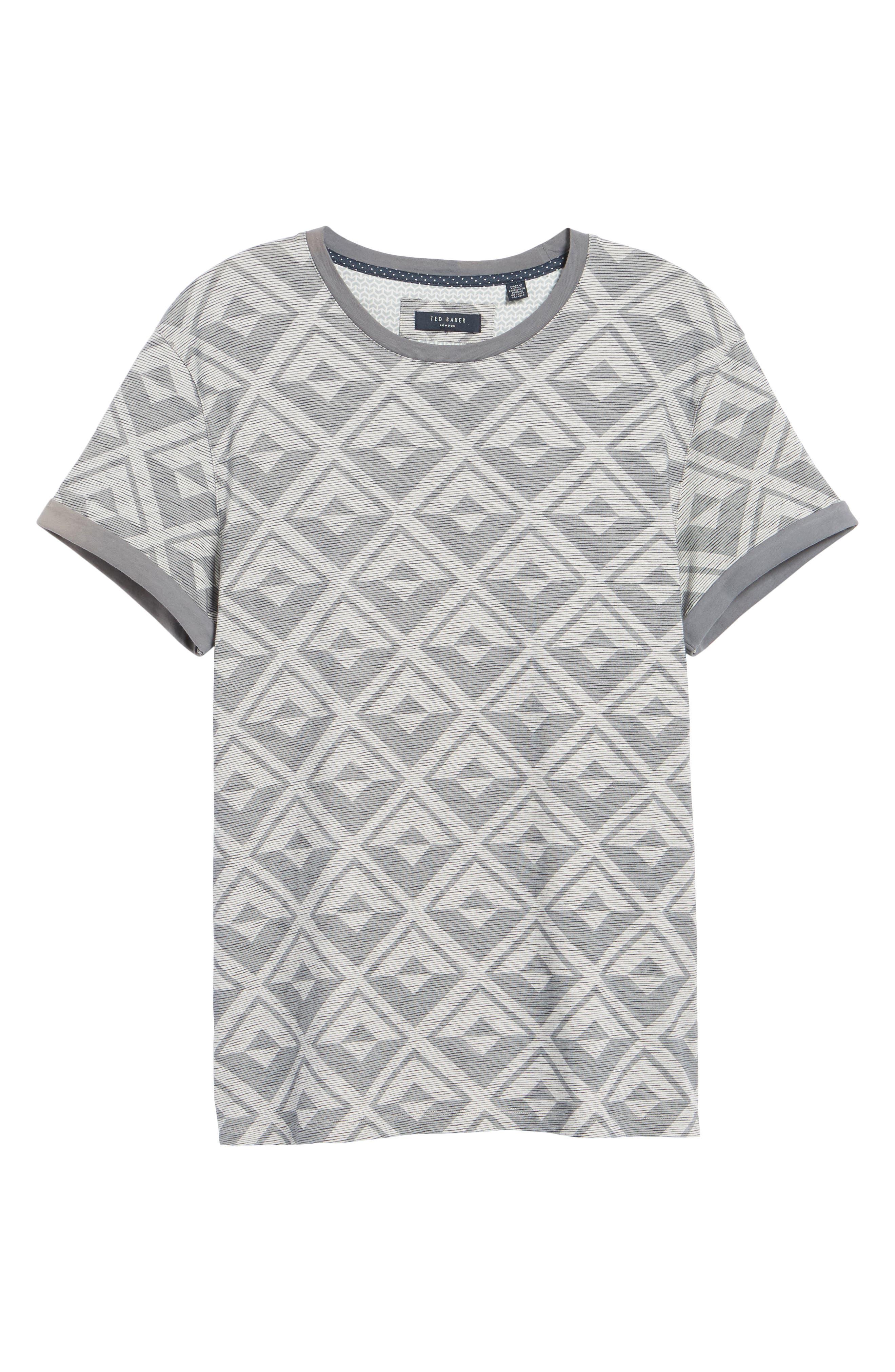 Geometric Crewneck T-Shirt,                             Alternate thumbnail 6, color,                             021