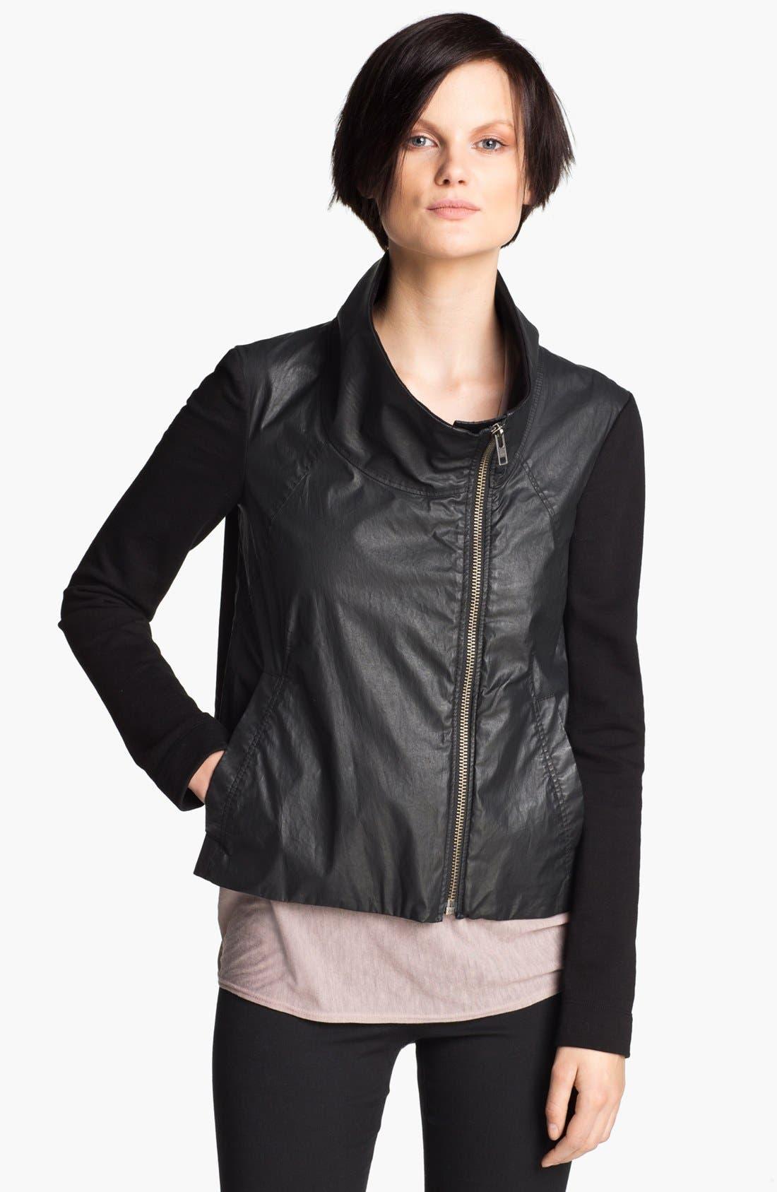 HELMUT Helmut Lang Glazed Cotton Jacket,                             Alternate thumbnail 3, color,