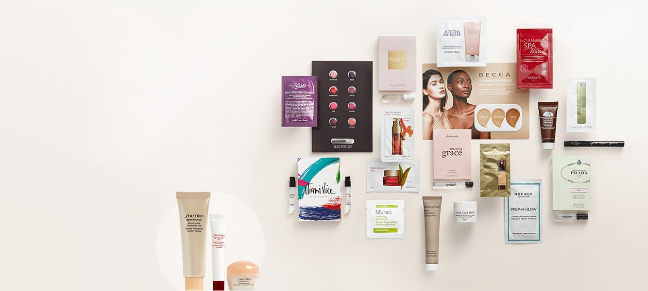 Free 18-piece gift with your $125 beauty or fragrance purchase. Buy more and get more gift.