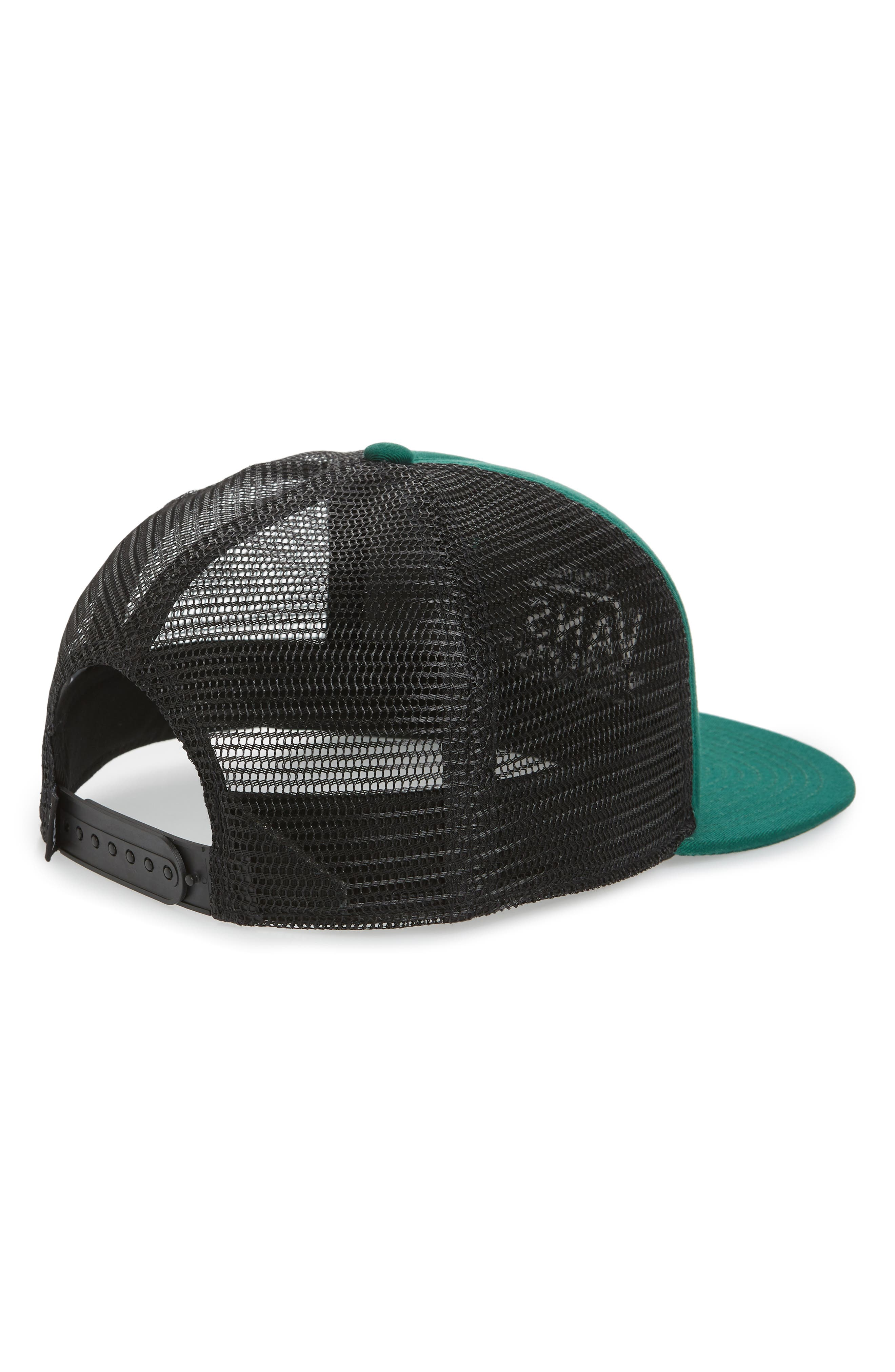 VANS,                             Galer Embroidered Trucker Hat,                             Alternate thumbnail 2, color,                             EVERGREEN