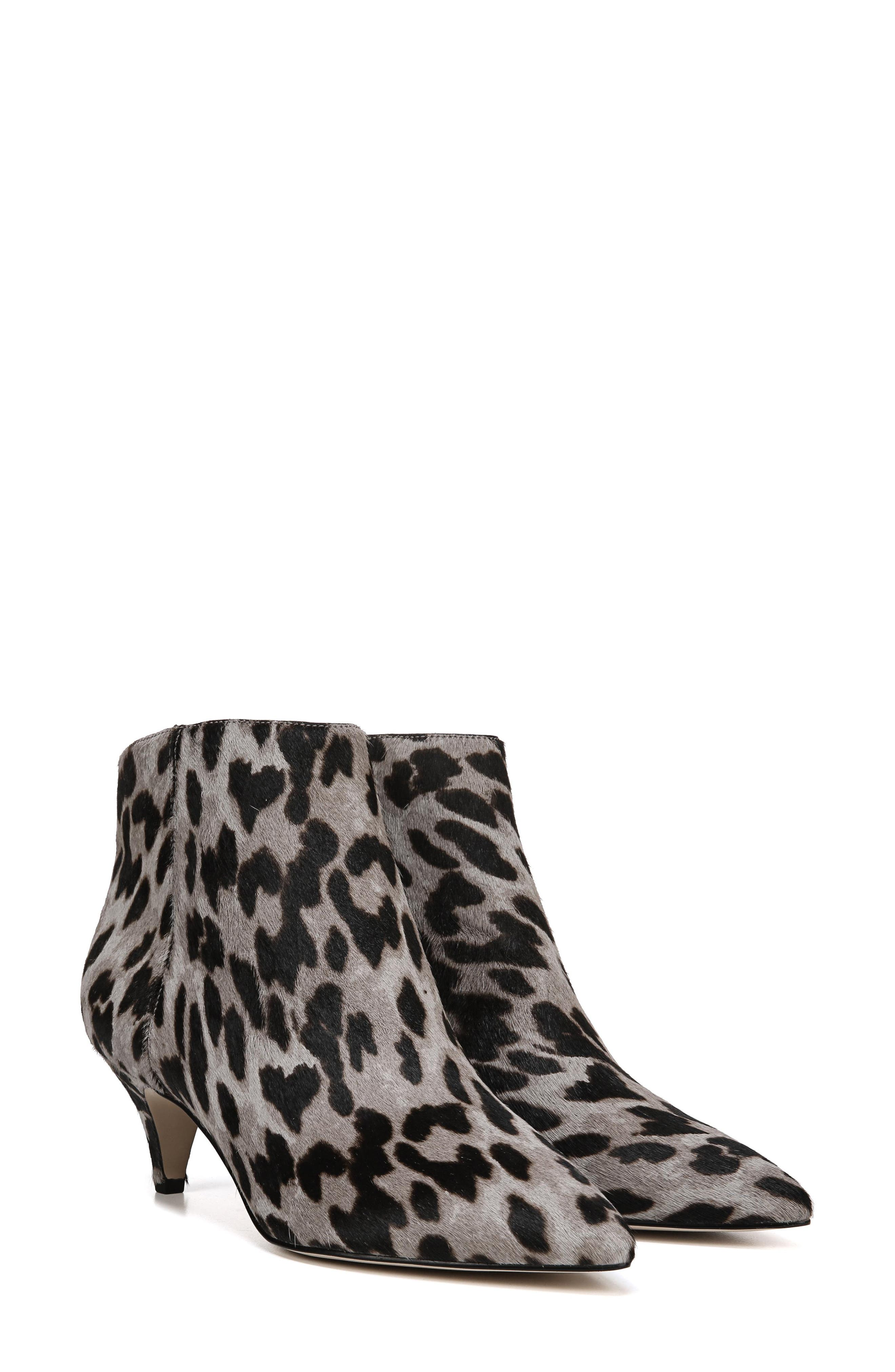 Kinzey Genuine Calf Hair Pointy Toe Bootie,                             Alternate thumbnail 8, color,                             GREY LEOPARD BRAHMA HAIR