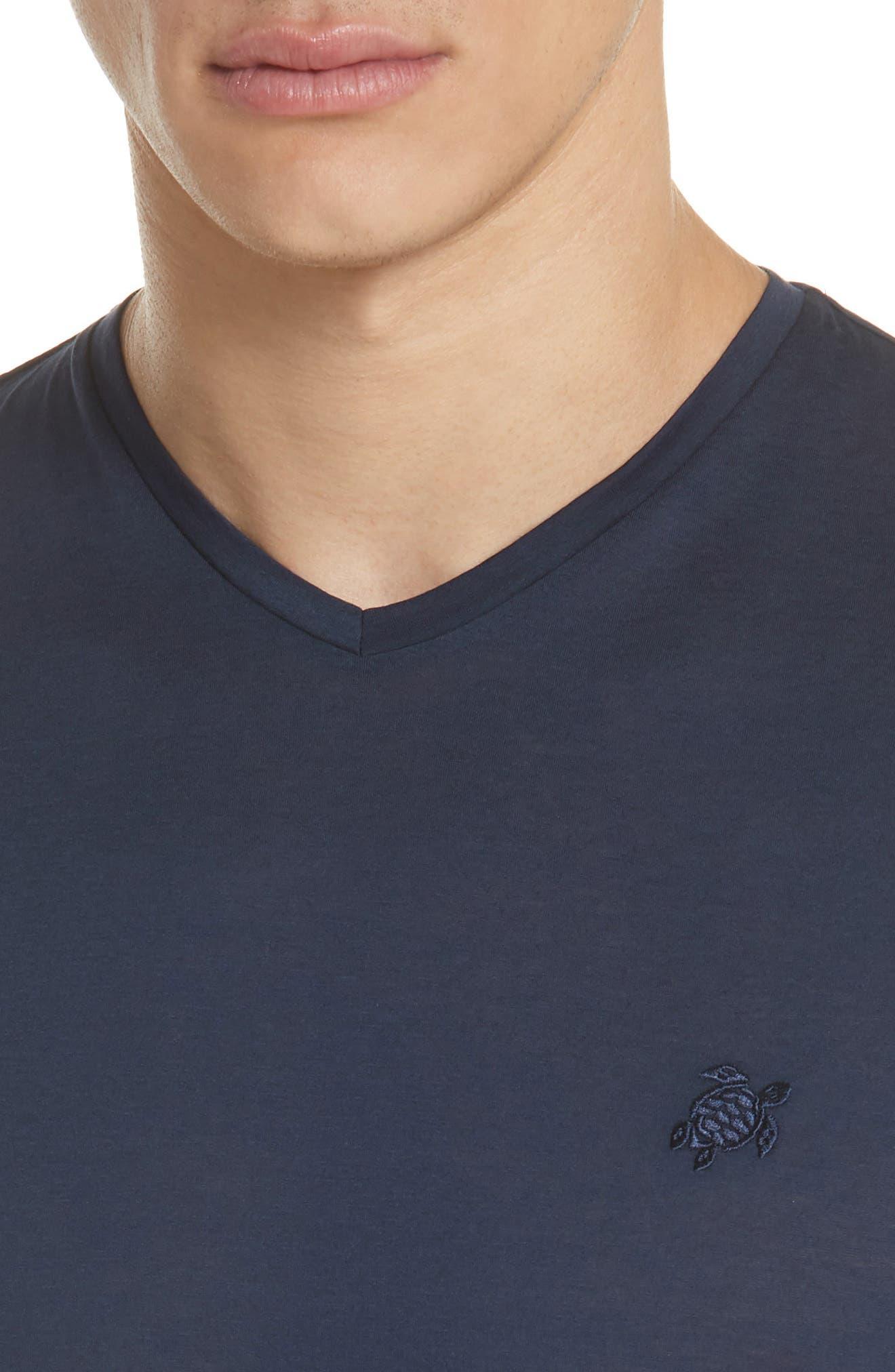 V-Neck T-Shirt,                             Alternate thumbnail 4, color,                             NAVY