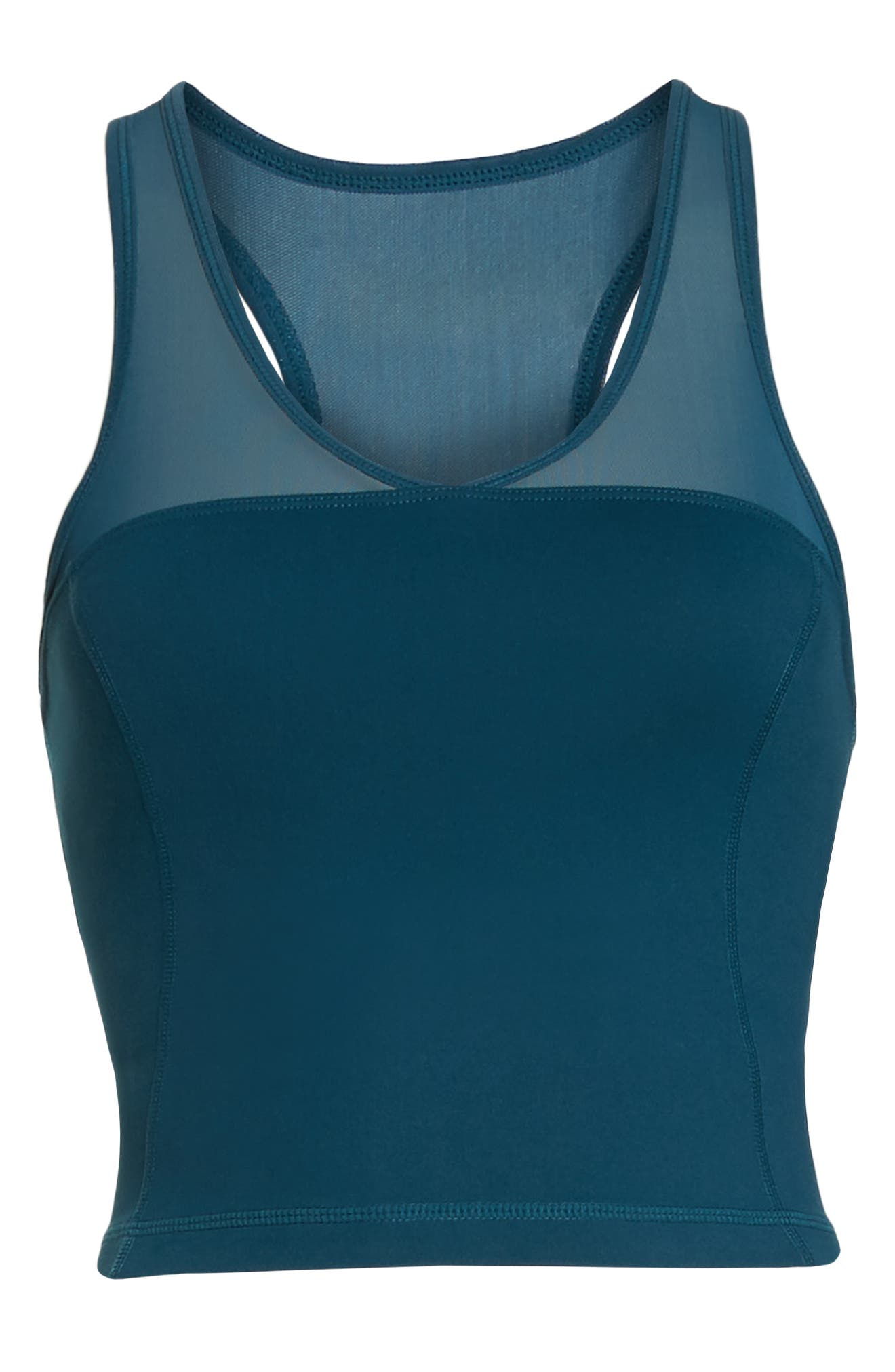 Vivian Crop Tank,                             Alternate thumbnail 7, color,                             TEAL ABYSS