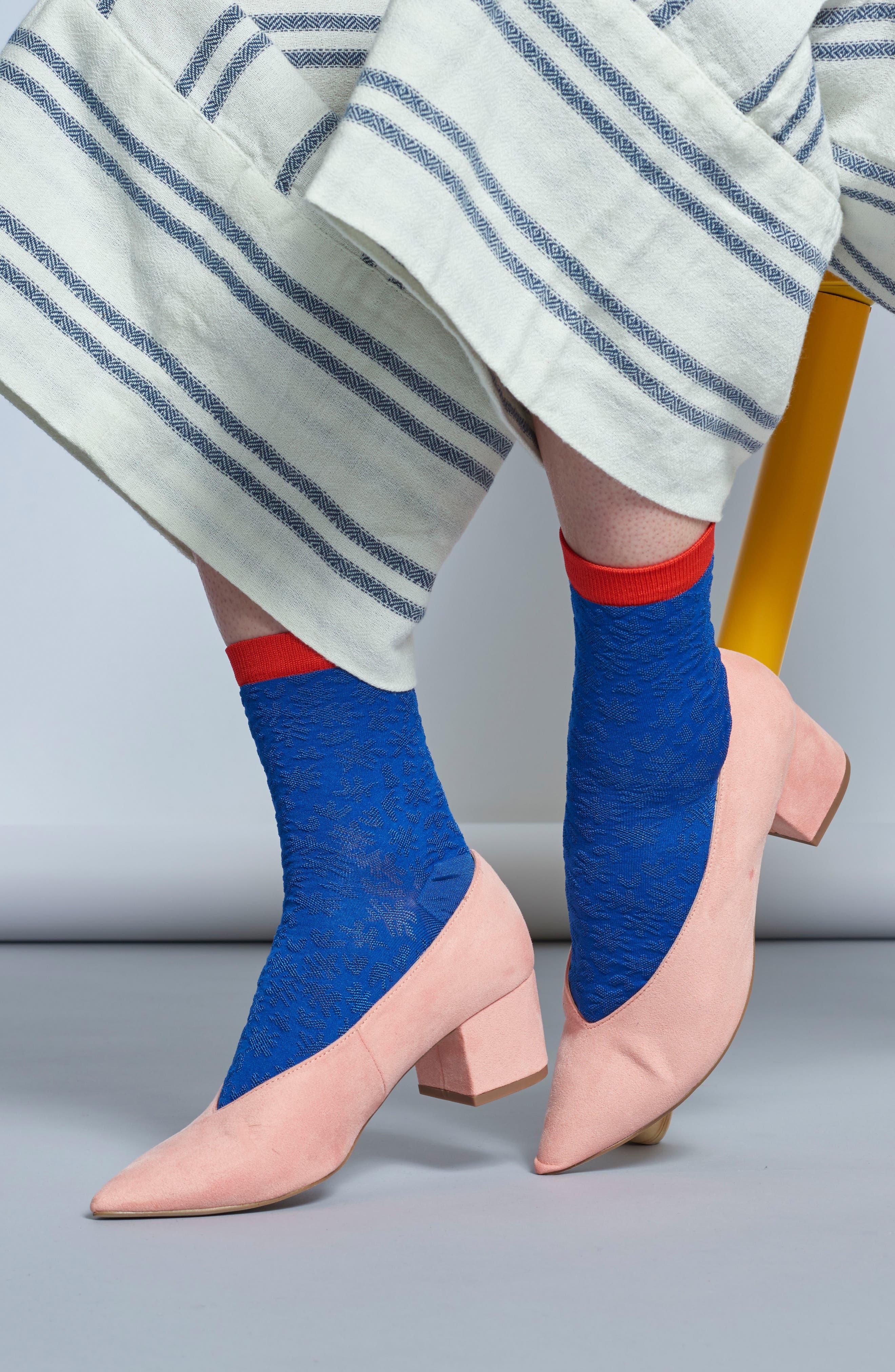 Lotta Ankle Socks,                             Alternate thumbnail 4, color,                             BLUE