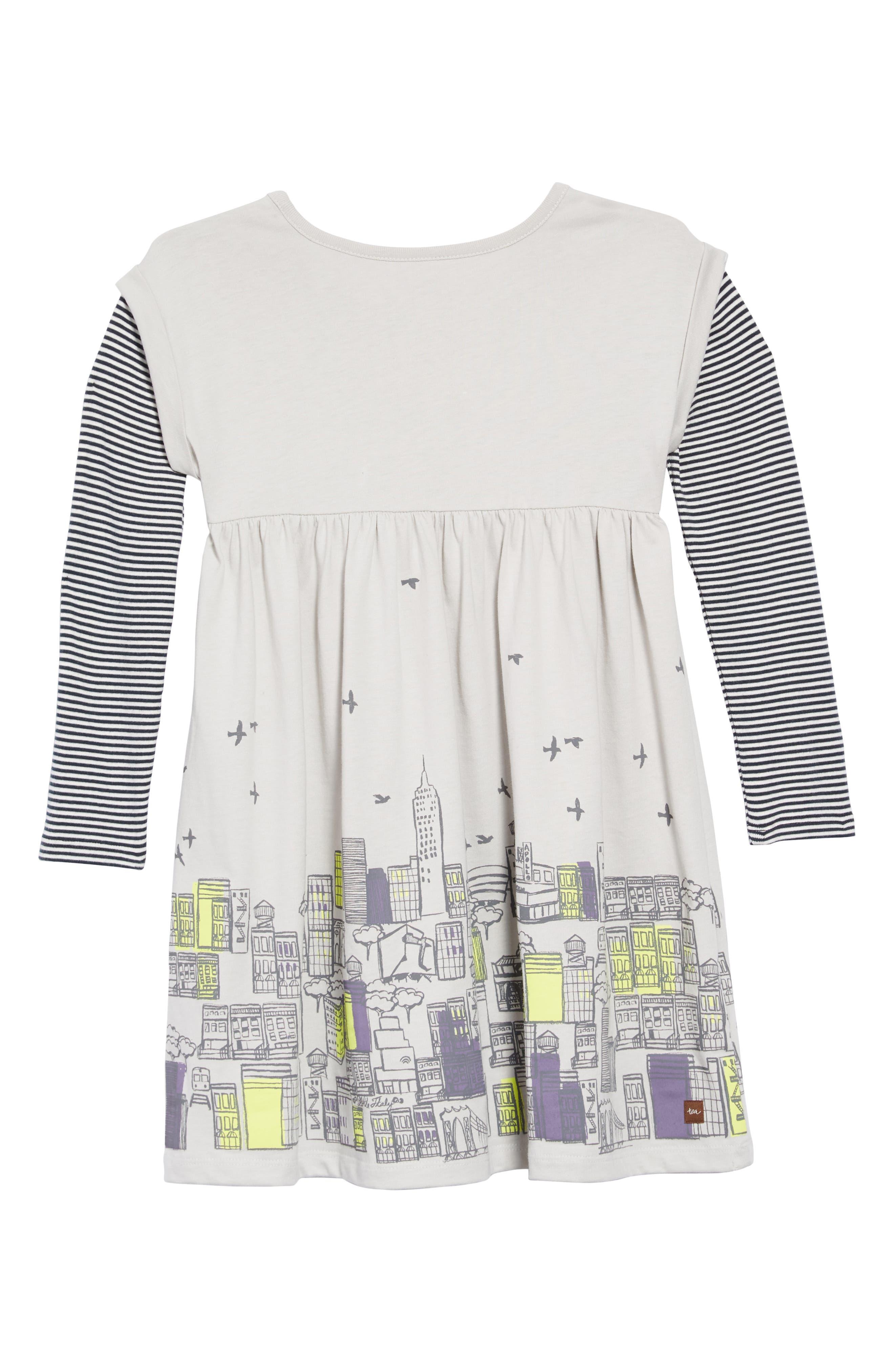 Layered Sleeve Dress,                             Alternate thumbnail 2, color,                             057