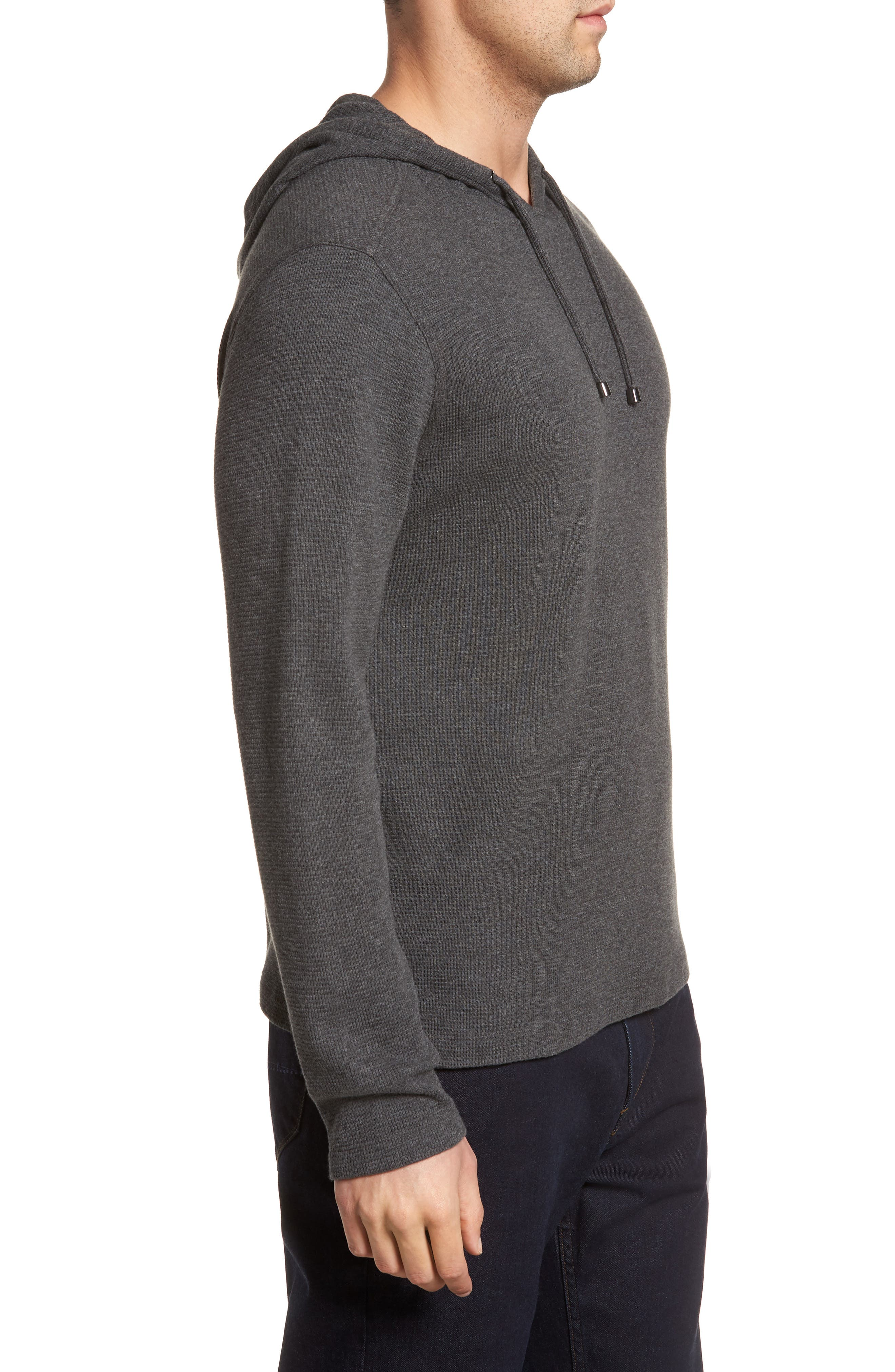 Wilson Pullover Hoodie,                             Alternate thumbnail 3, color,                             CHARCOAL