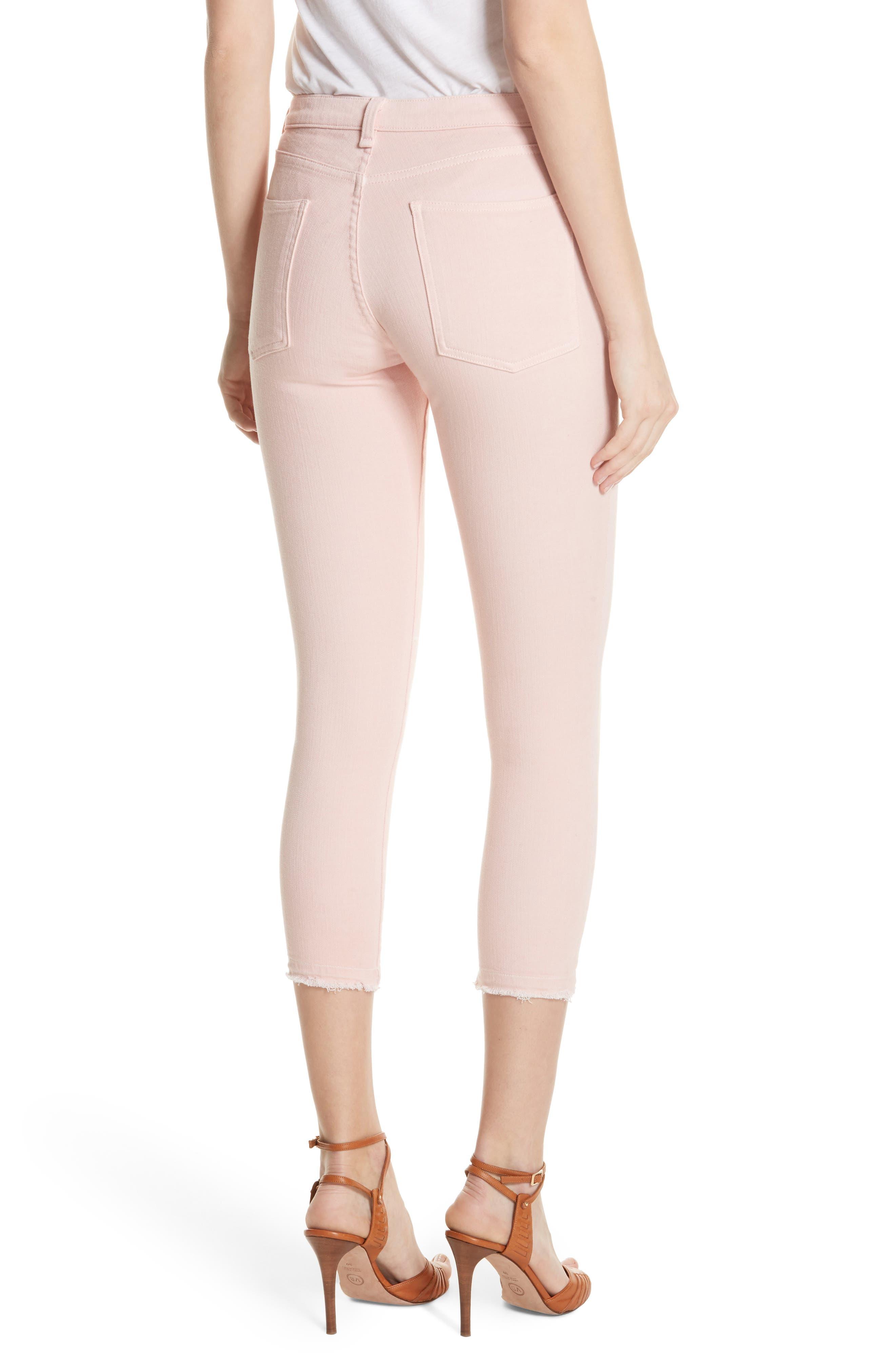 Debbie Frayed Crop Skinny Jeans,                             Alternate thumbnail 8, color,