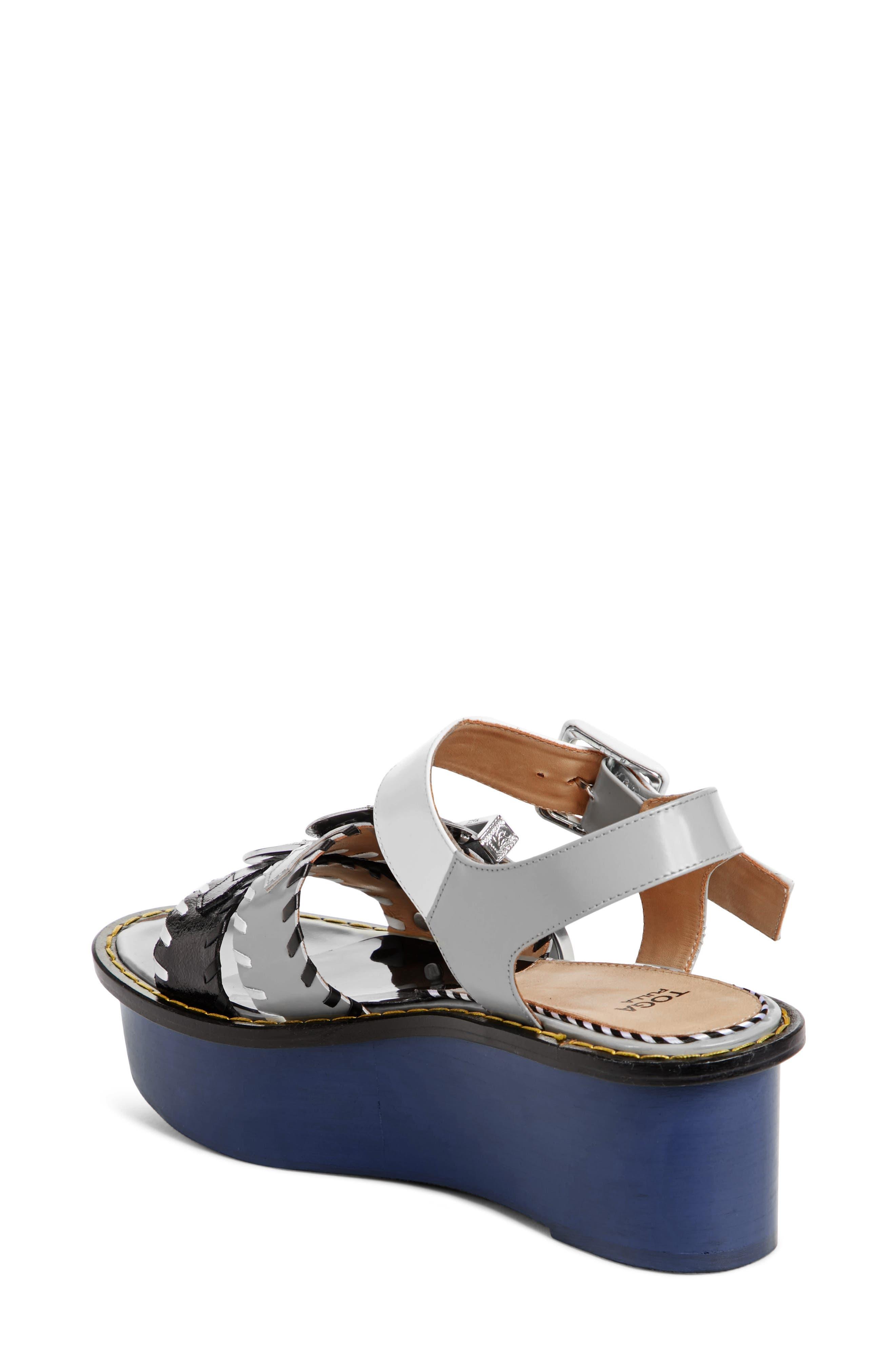 Colorblock Triple Strap Platform Sandal,                             Alternate thumbnail 2, color,                             410