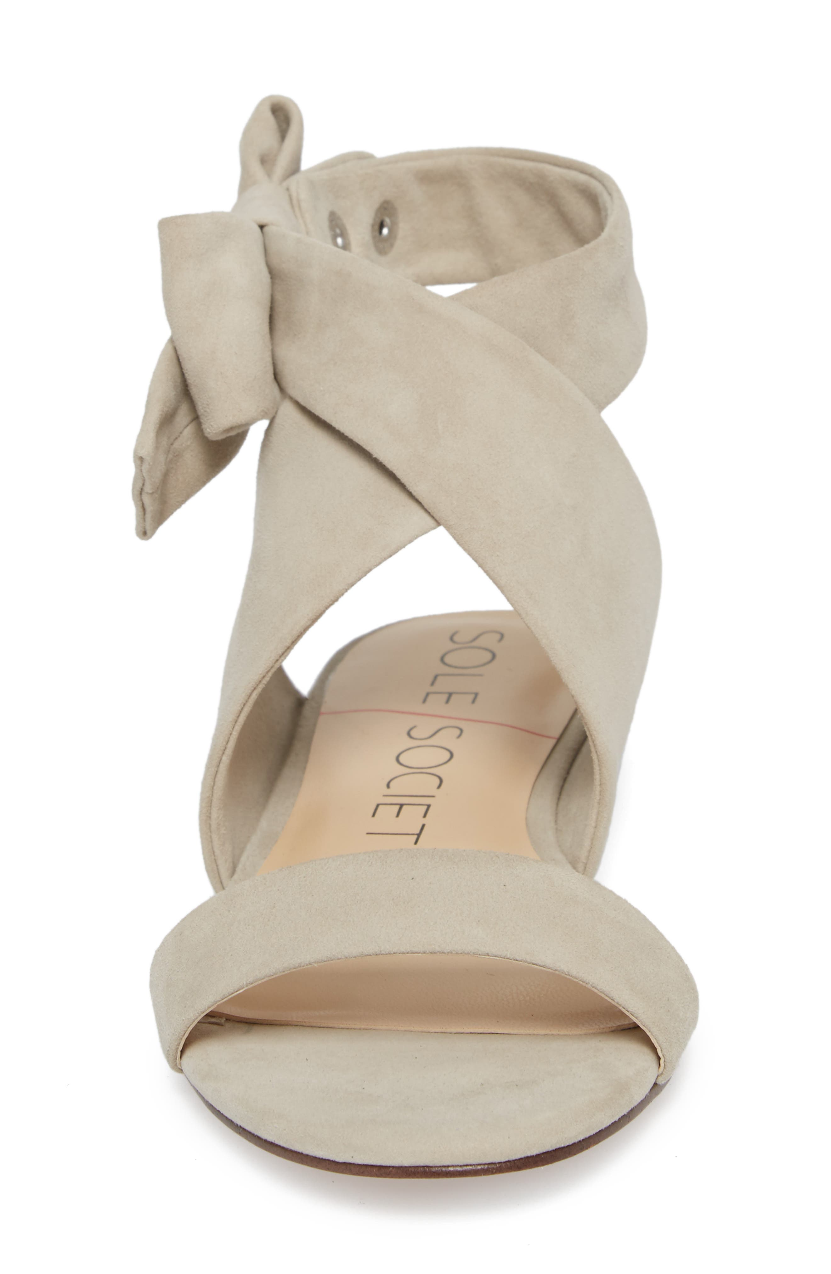 Calynda Bow Ankle Wrap Sandal,                             Alternate thumbnail 4, color,                             020