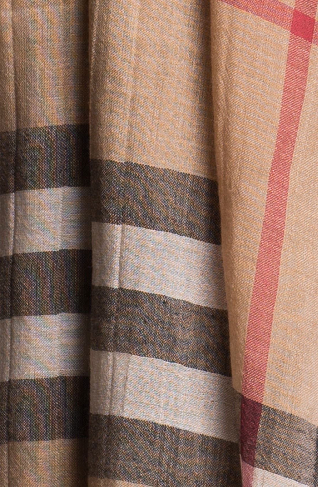 Giant Check Print Wool & Silk Scarf,                             Alternate thumbnail 158, color,