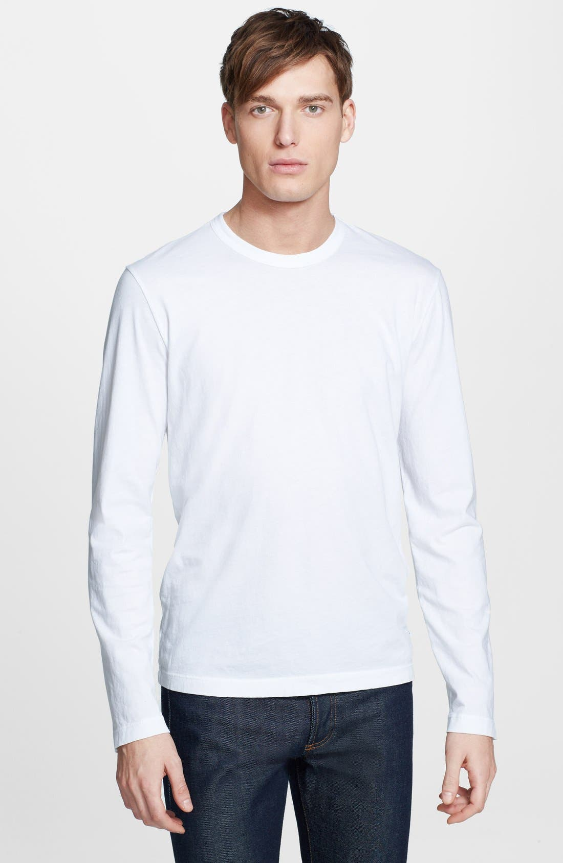 Long Sleeve Crewneck T-Shirt,                             Main thumbnail 4, color,