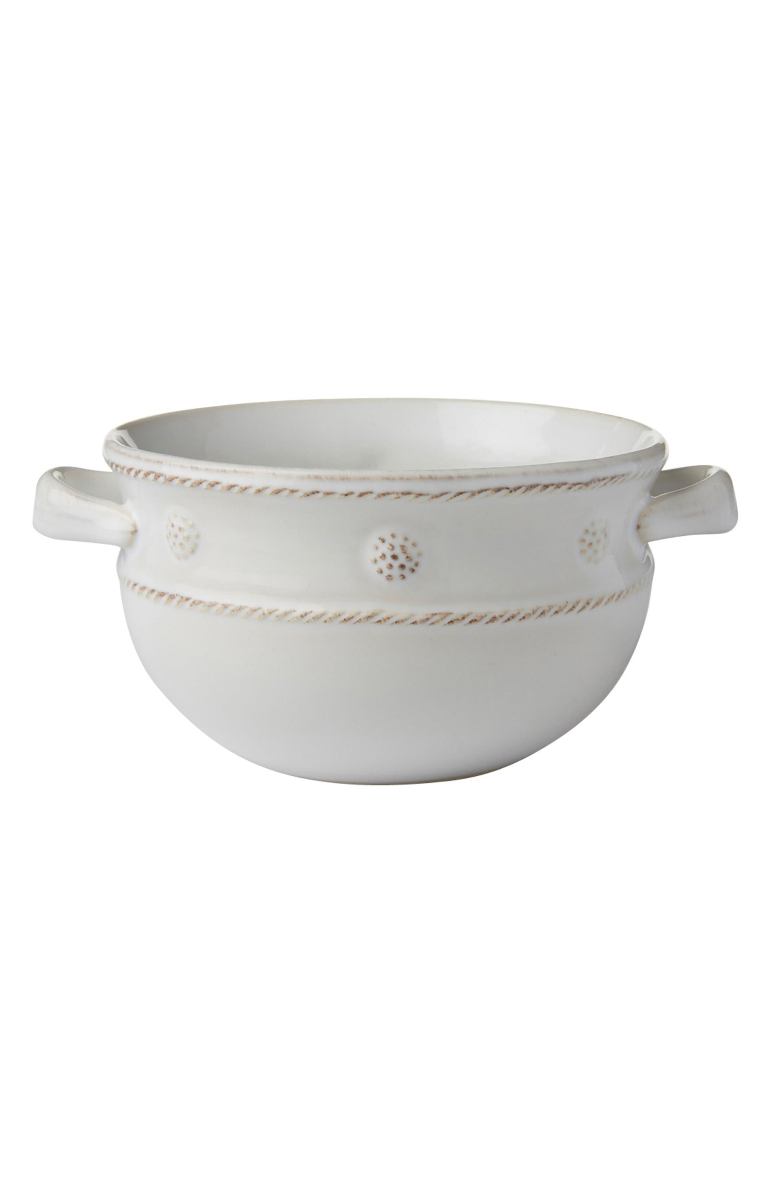 Berry & Thread Two-Handle Ceramic Bowl,                         Main,                         color, WHITEWASH