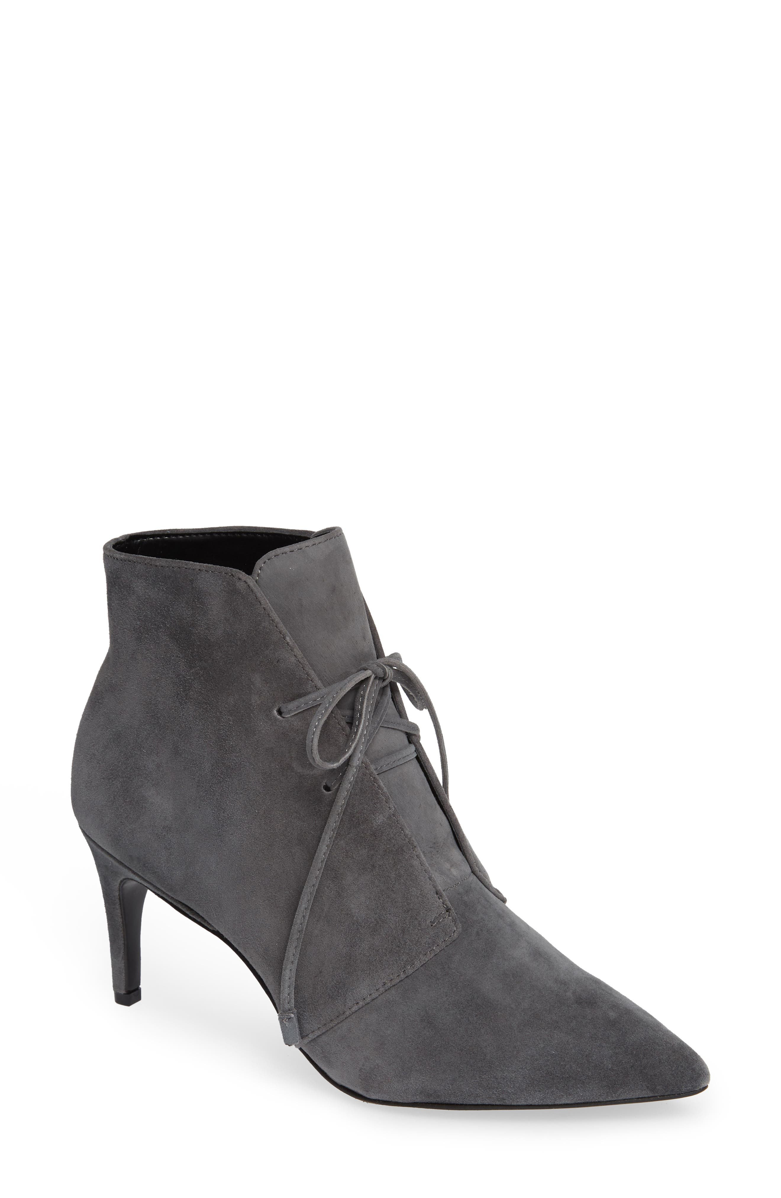 Portis Bootie,                         Main,                         color, CHARCOAL SUEDE