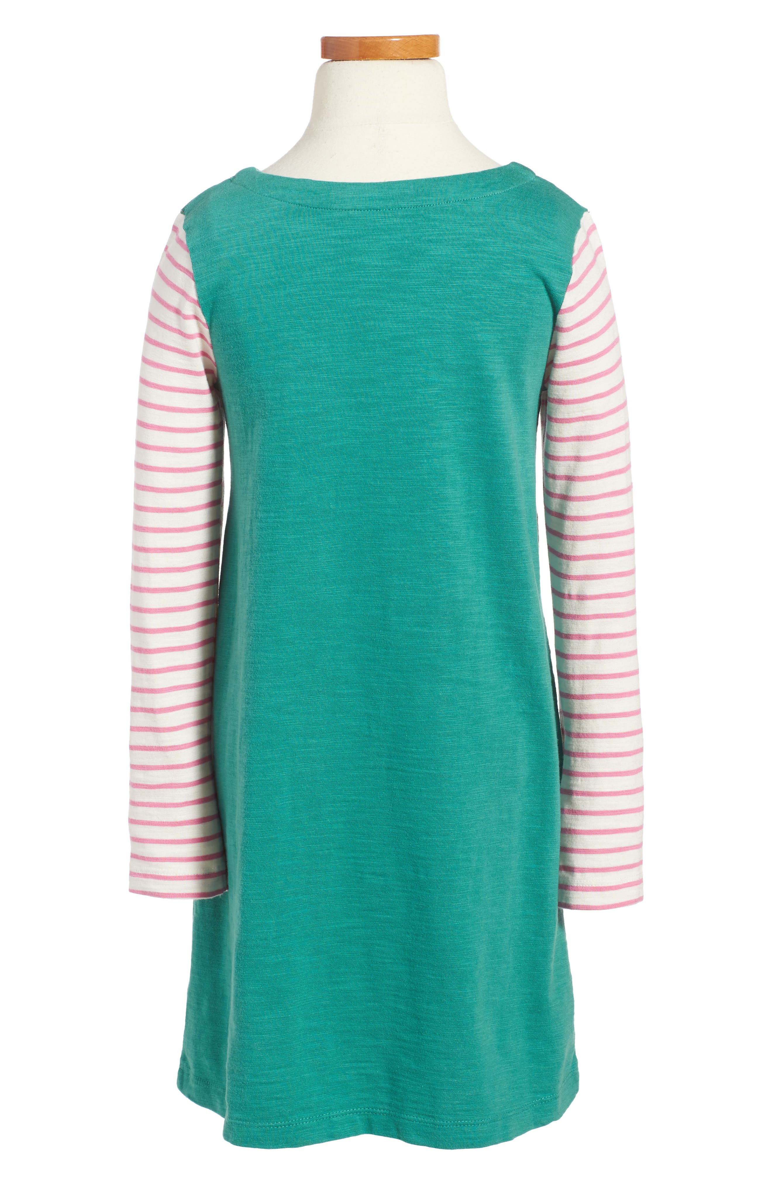 Stripy Jersey Dress,                             Alternate thumbnail 2, color,                             315