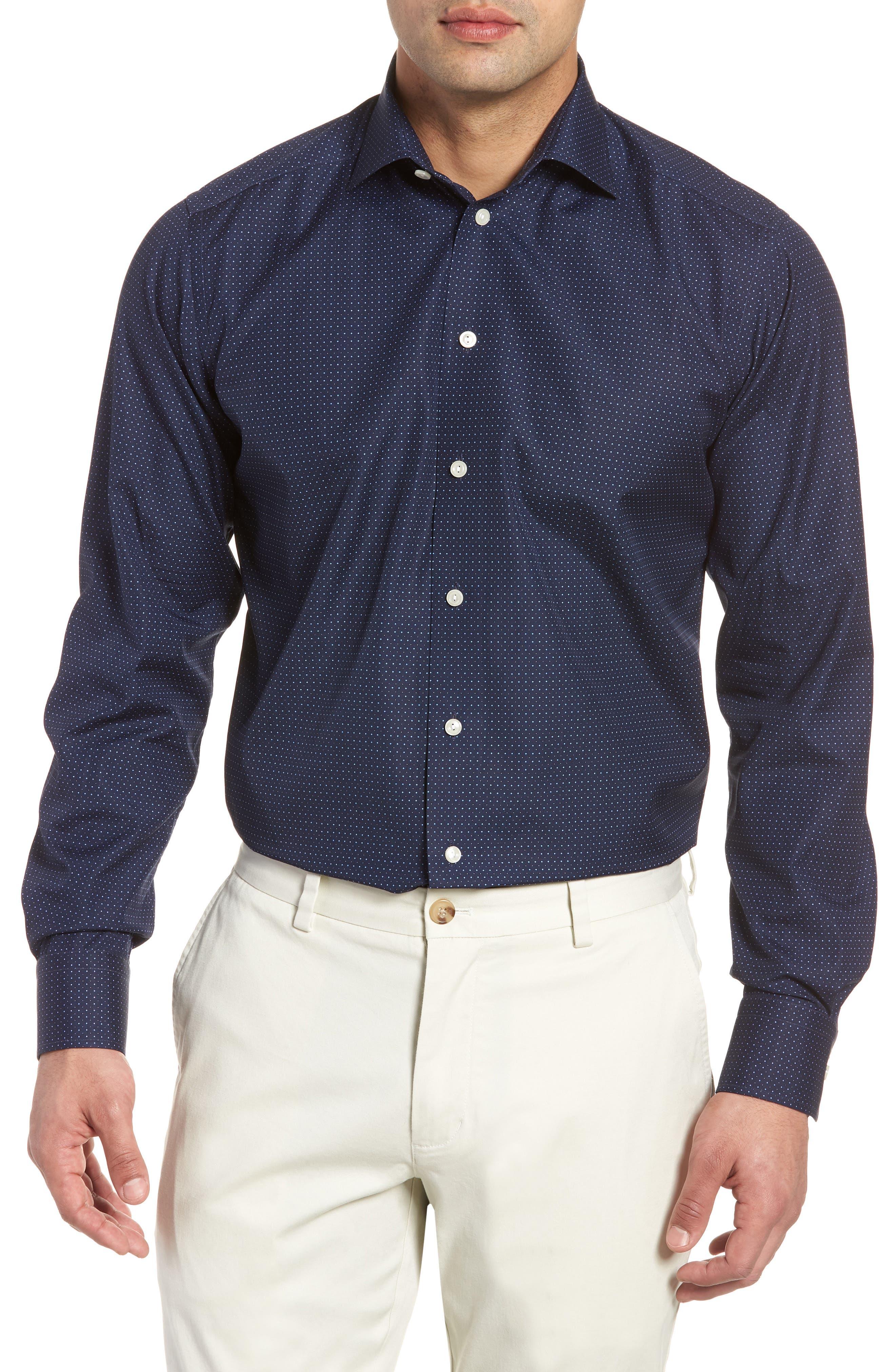 Contemporary Fit Dot Dress Shirt,                             Main thumbnail 2, color,