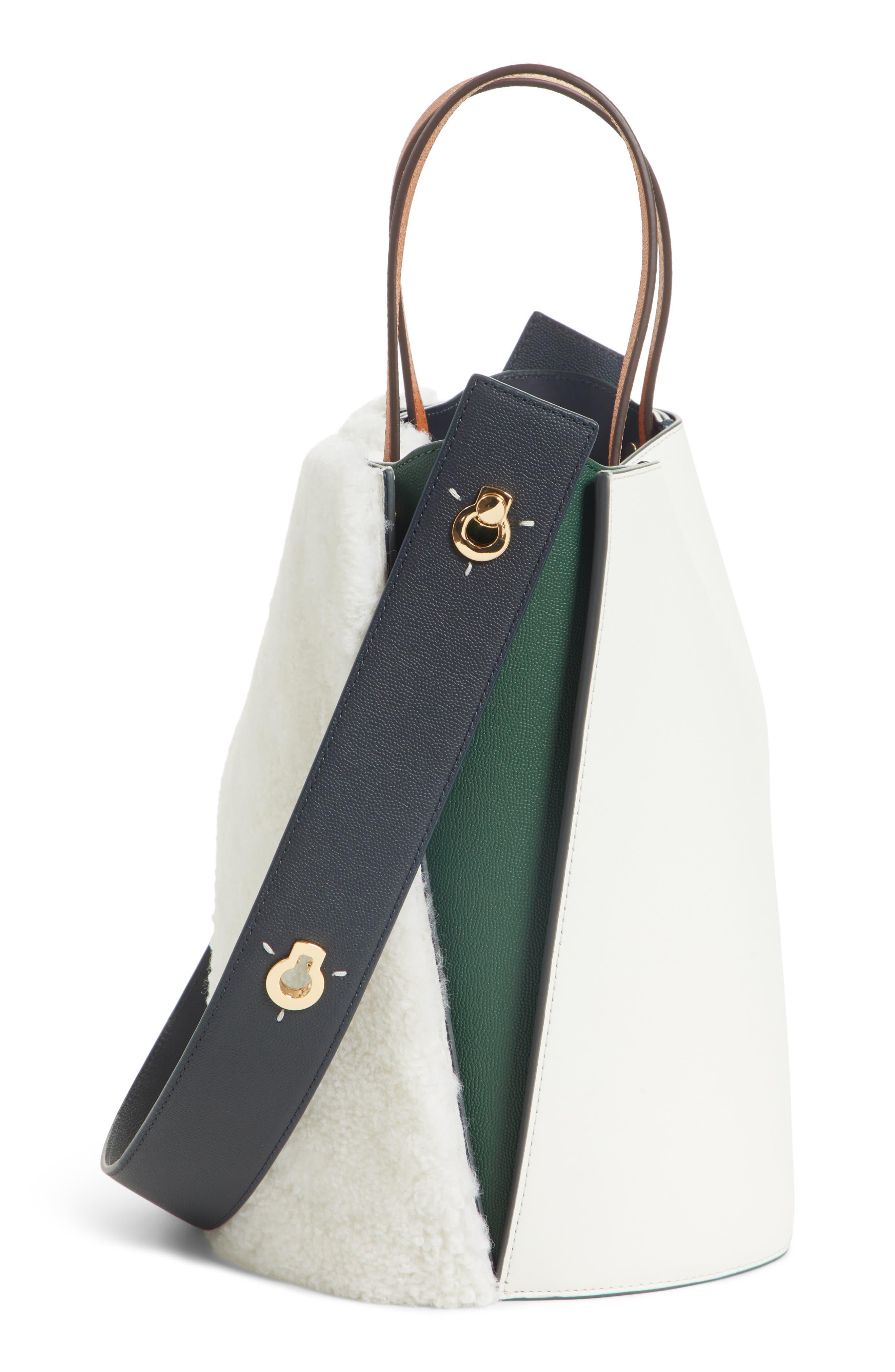 Mini Lorna Leather Bucket Bag,                             Alternate thumbnail 5, color,                             100