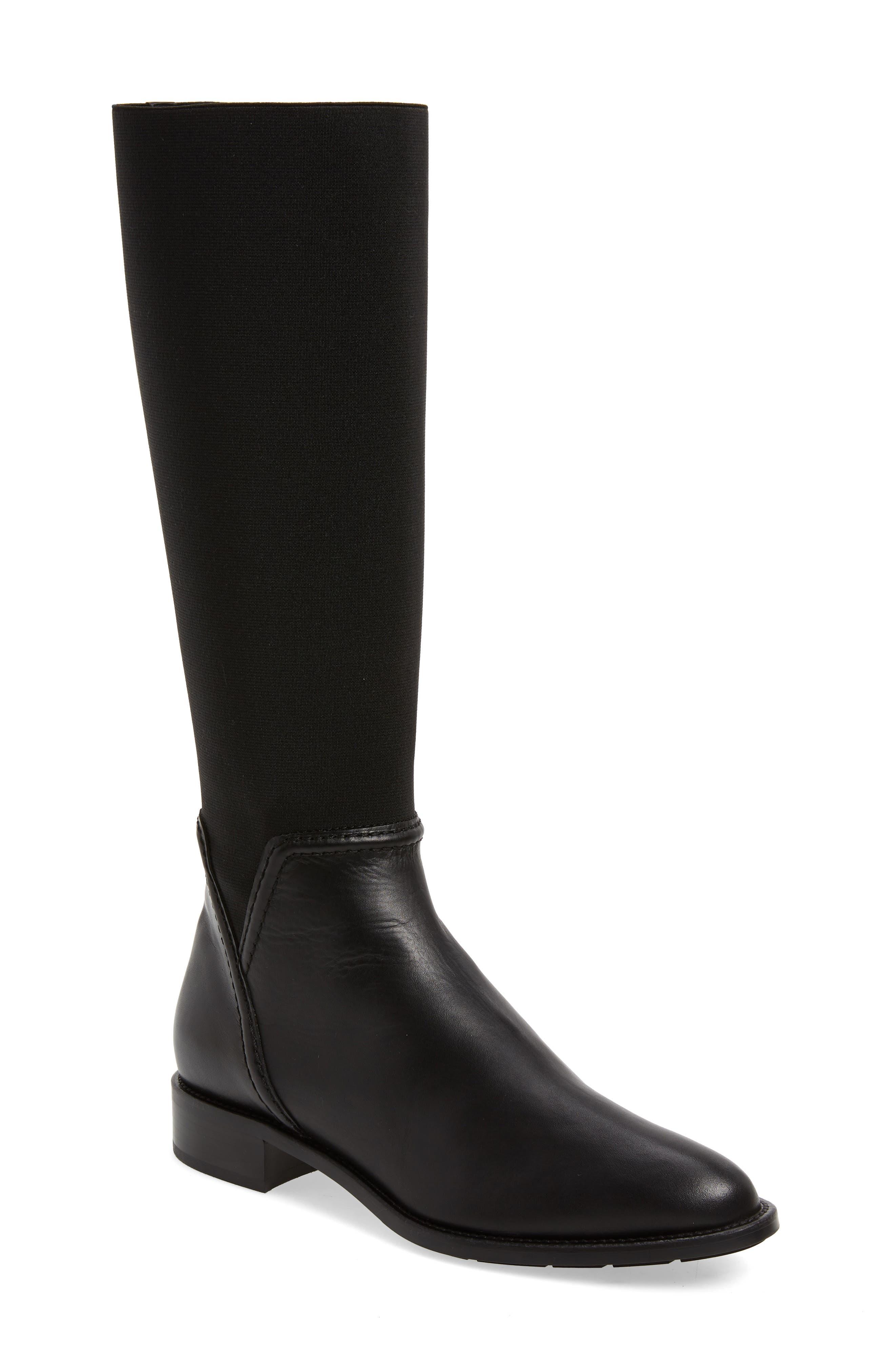 Aquatalia Nanina Water Resistant Riding Boot, Black