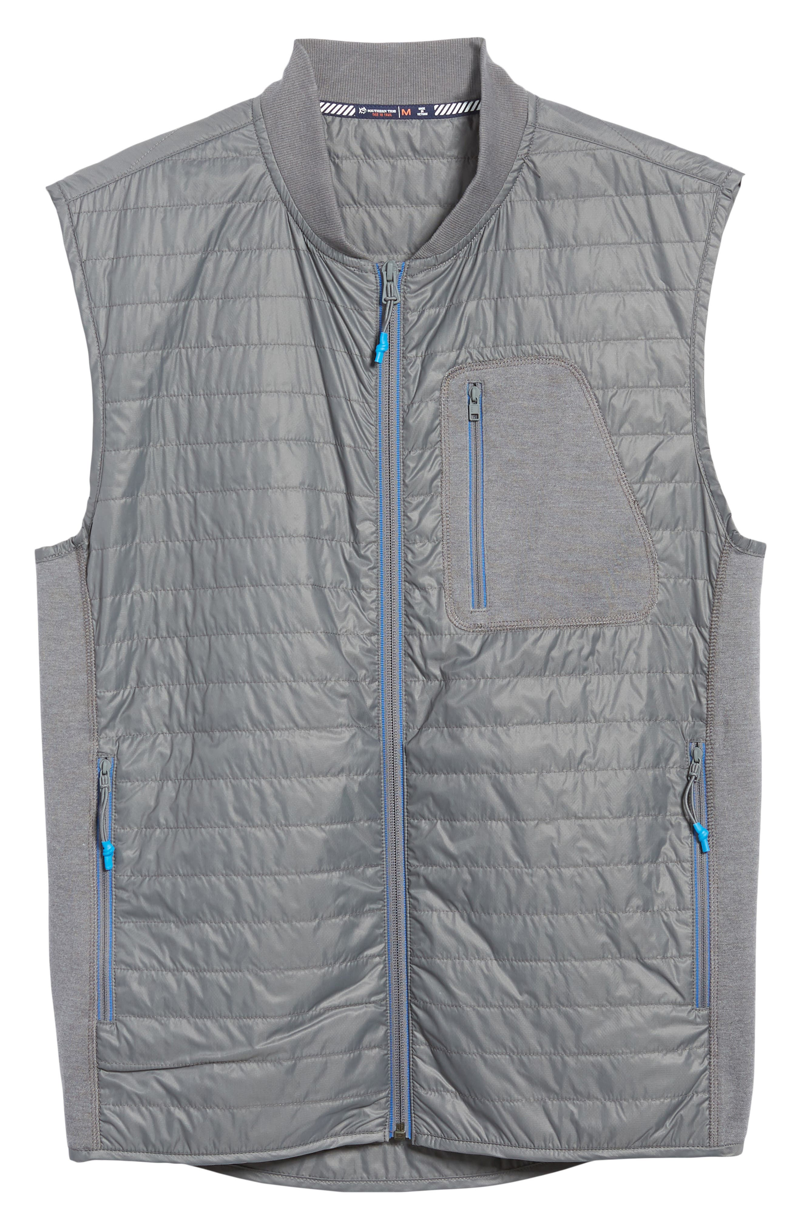 Forrest Creek Bomber Vest,                             Alternate thumbnail 6, color,                             SMOKED PEARL