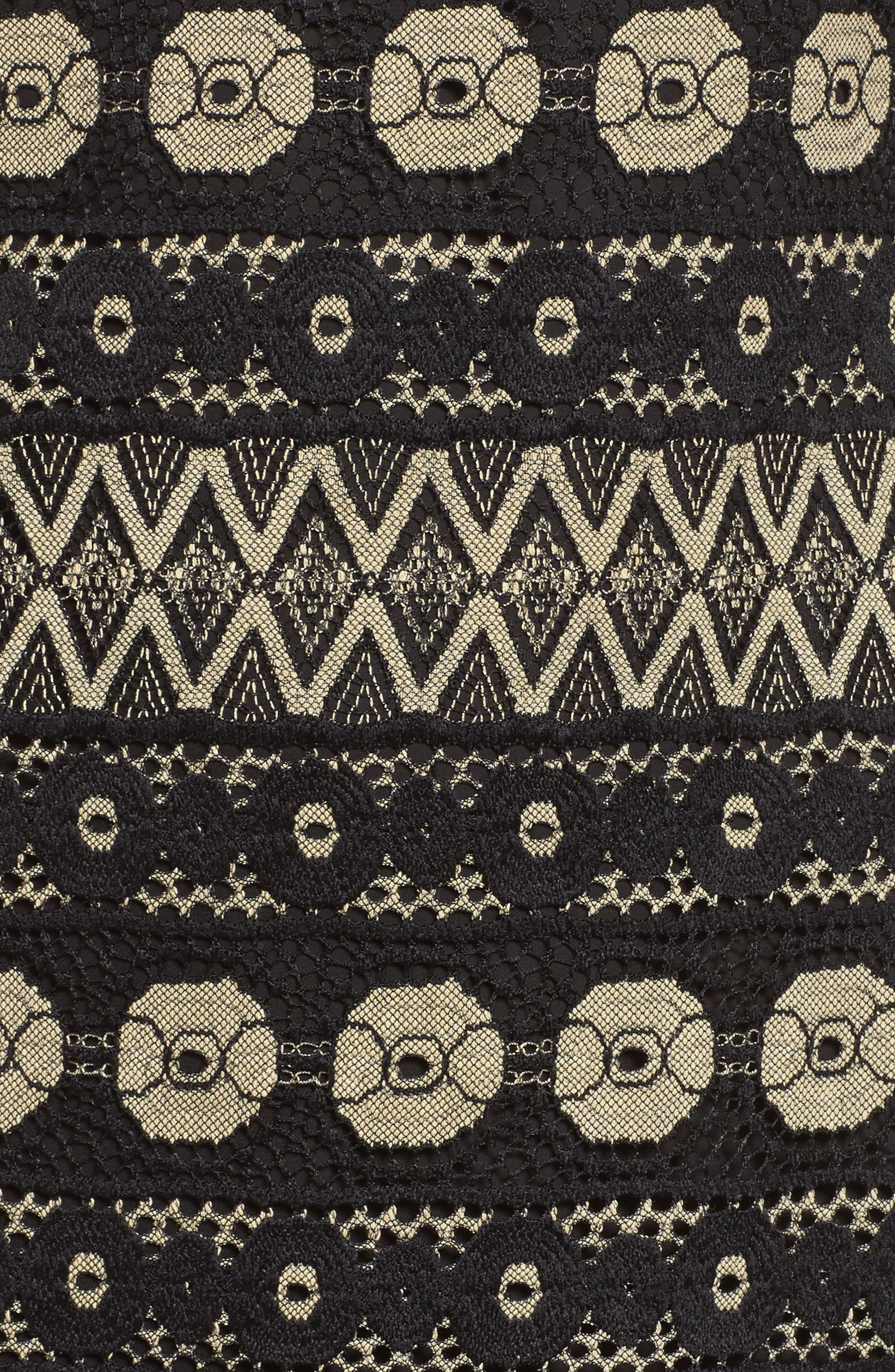 Off the Shoulder Lace Dress,                             Alternate thumbnail 5, color,                             001