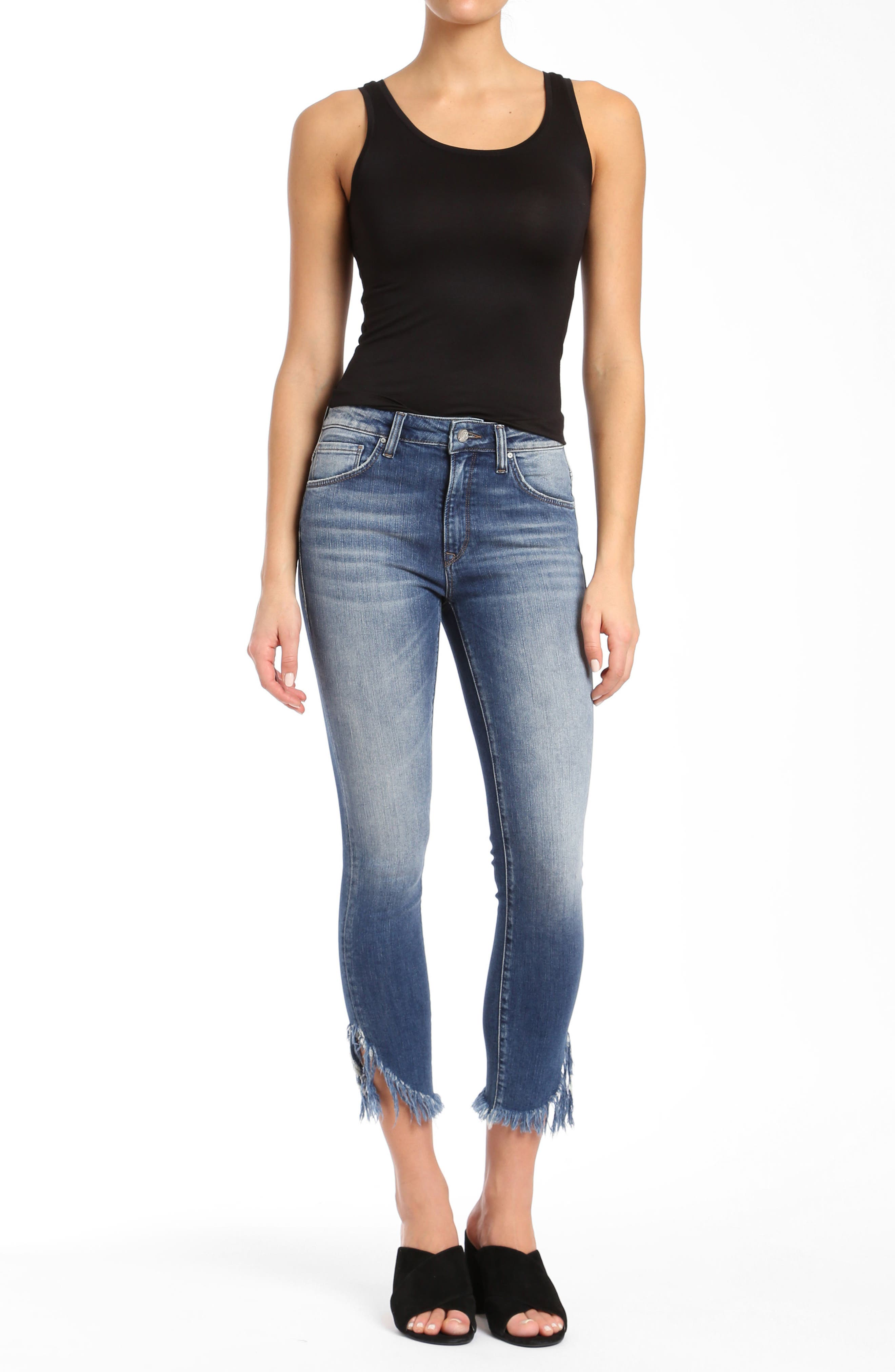 Tess Extreme Ripped Super Skinny Jeans,                             Alternate thumbnail 4, color,                             EXTREME RIPPED VINTAGE