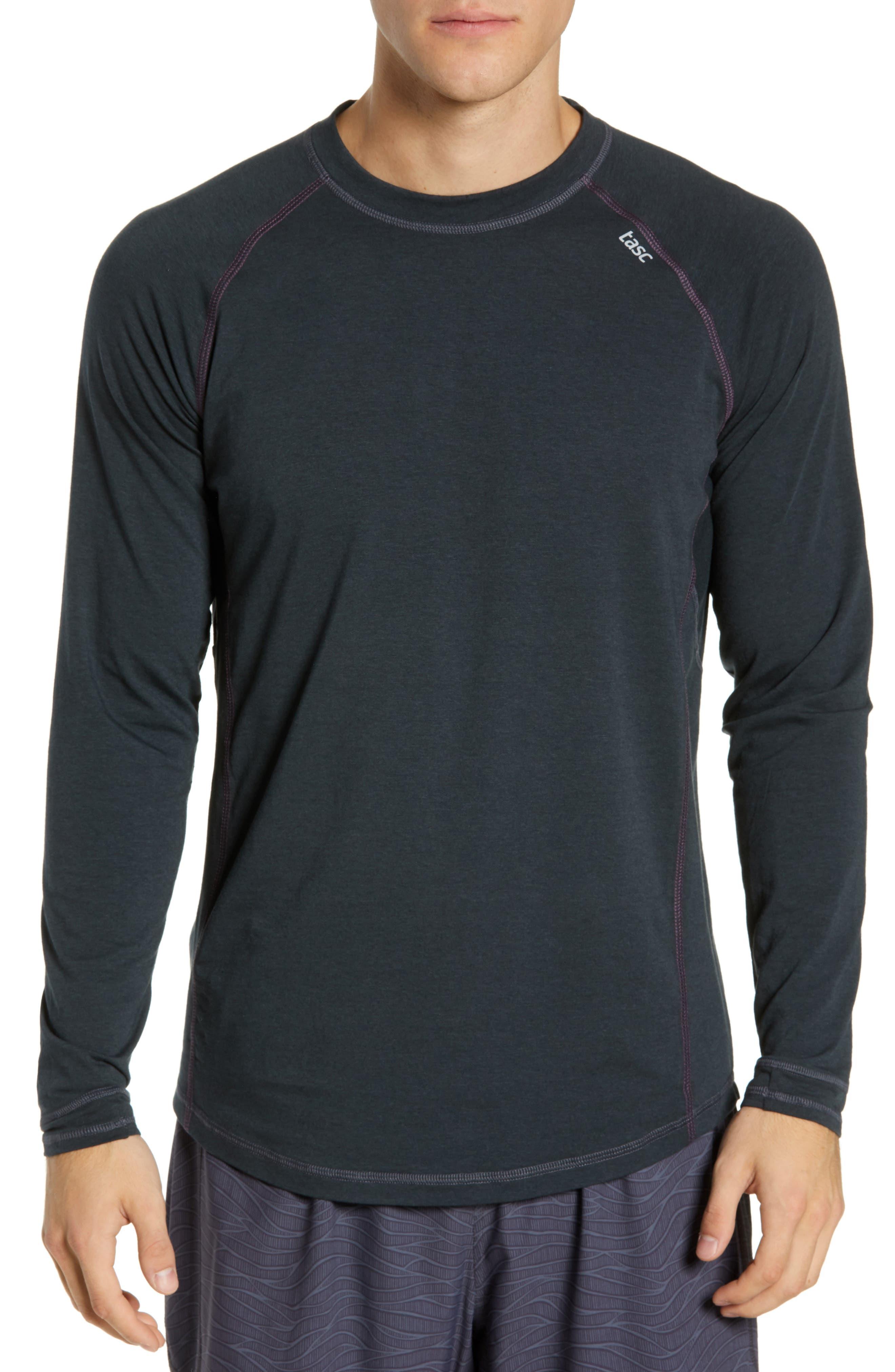 Charge II Long Sleeve T-Shirt, Main, color, GUNMETAL/ ECLIPSE