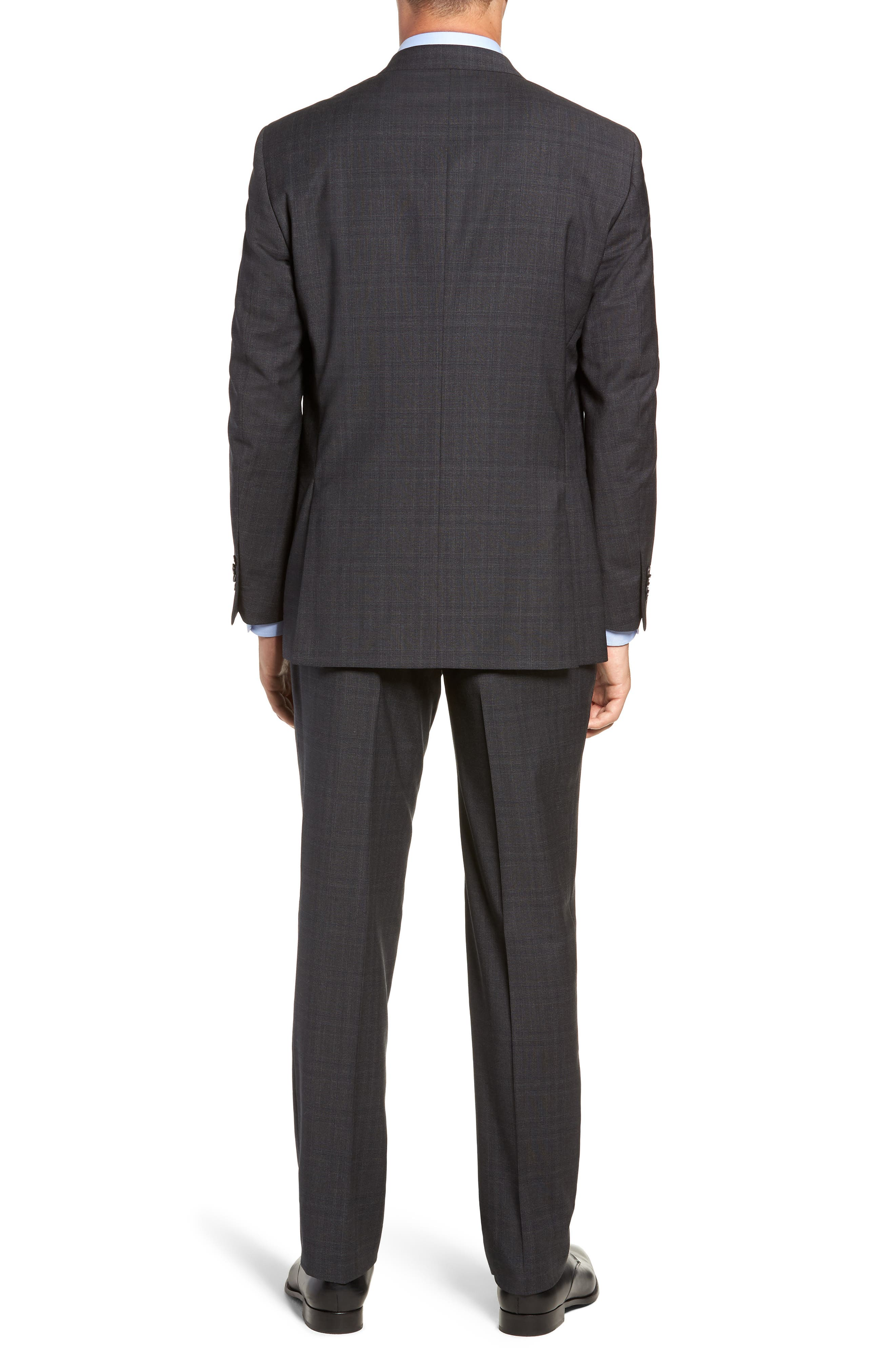 Flynn Classic Fit Plaid Wool Suit,                             Alternate thumbnail 2, color,                             CHARCOAL