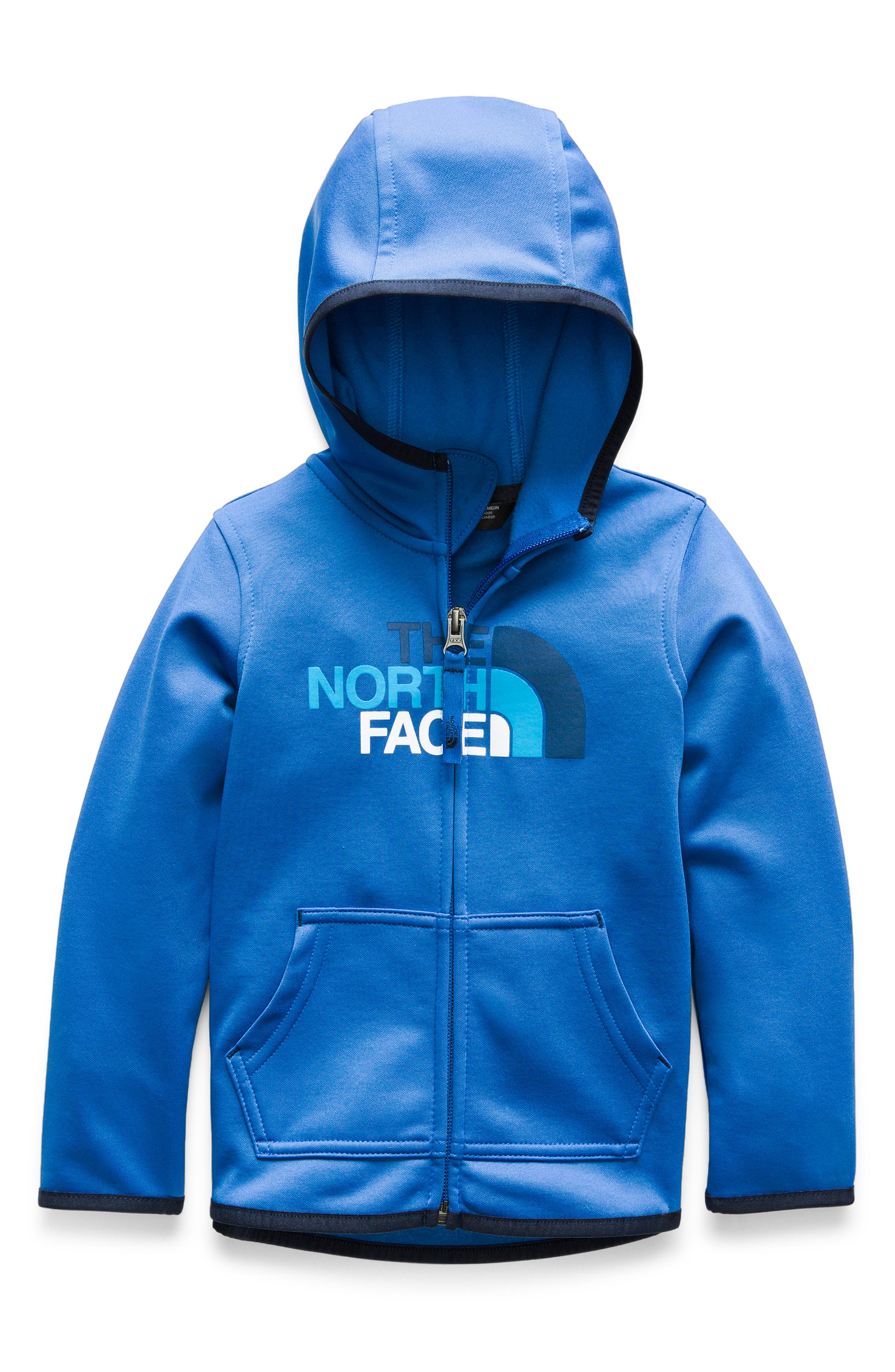 THE NORTH FACE,                             Surgent Full Zip Hoodie,                             Main thumbnail 1, color,                             TURKISH SEA