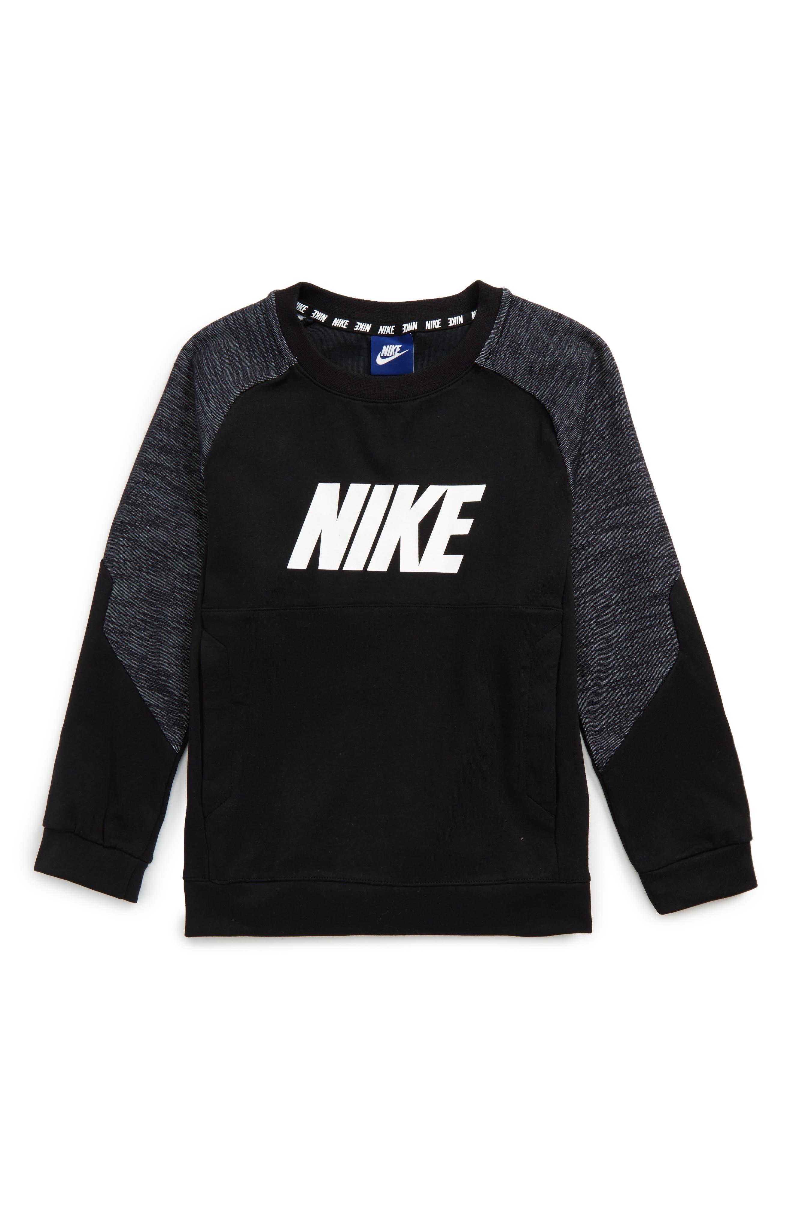 Colorblock Raglan Logo Sweatshirt,                         Main,                         color, 010