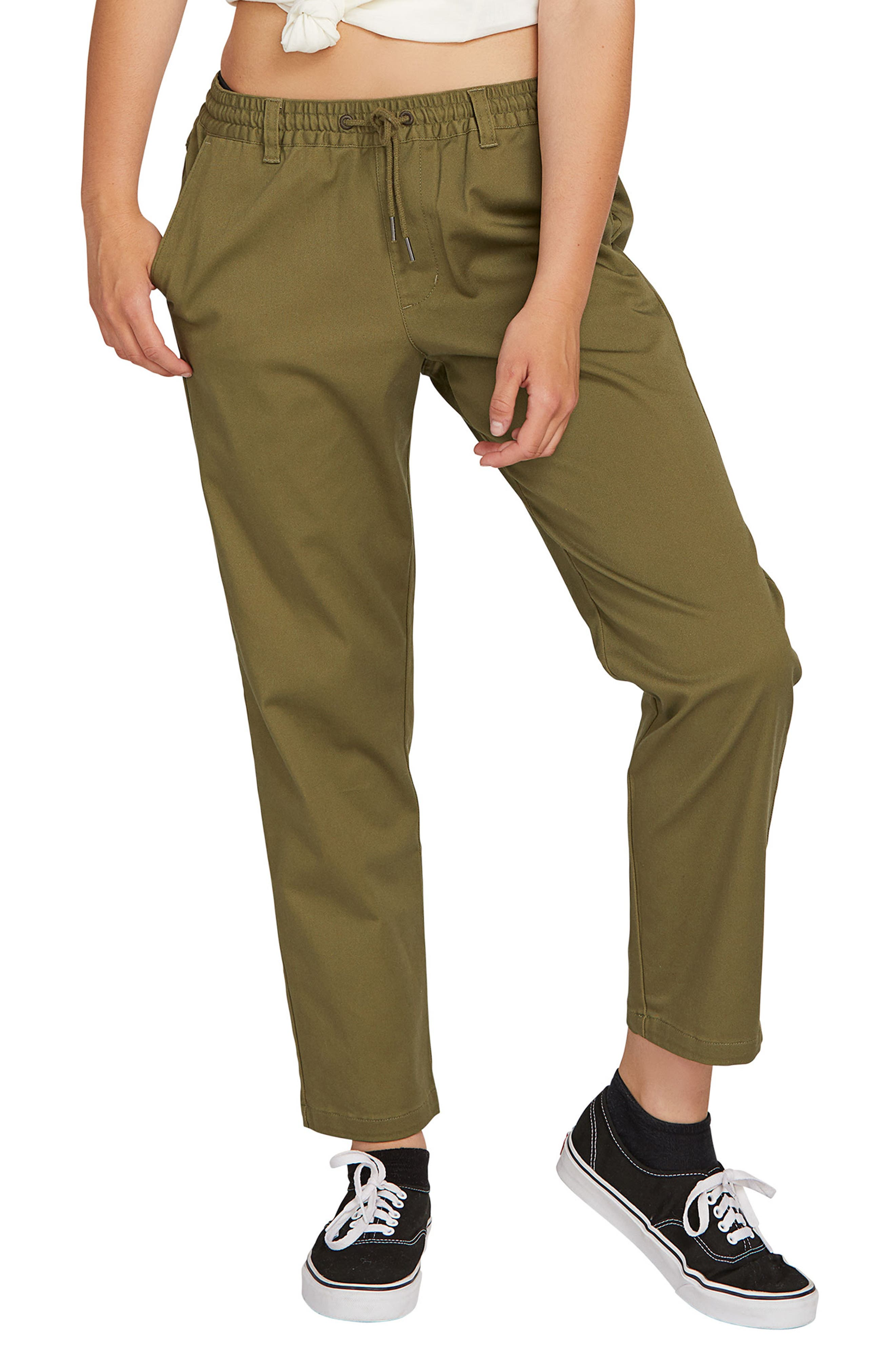 Volcom Frochickie Travel Pants, Green