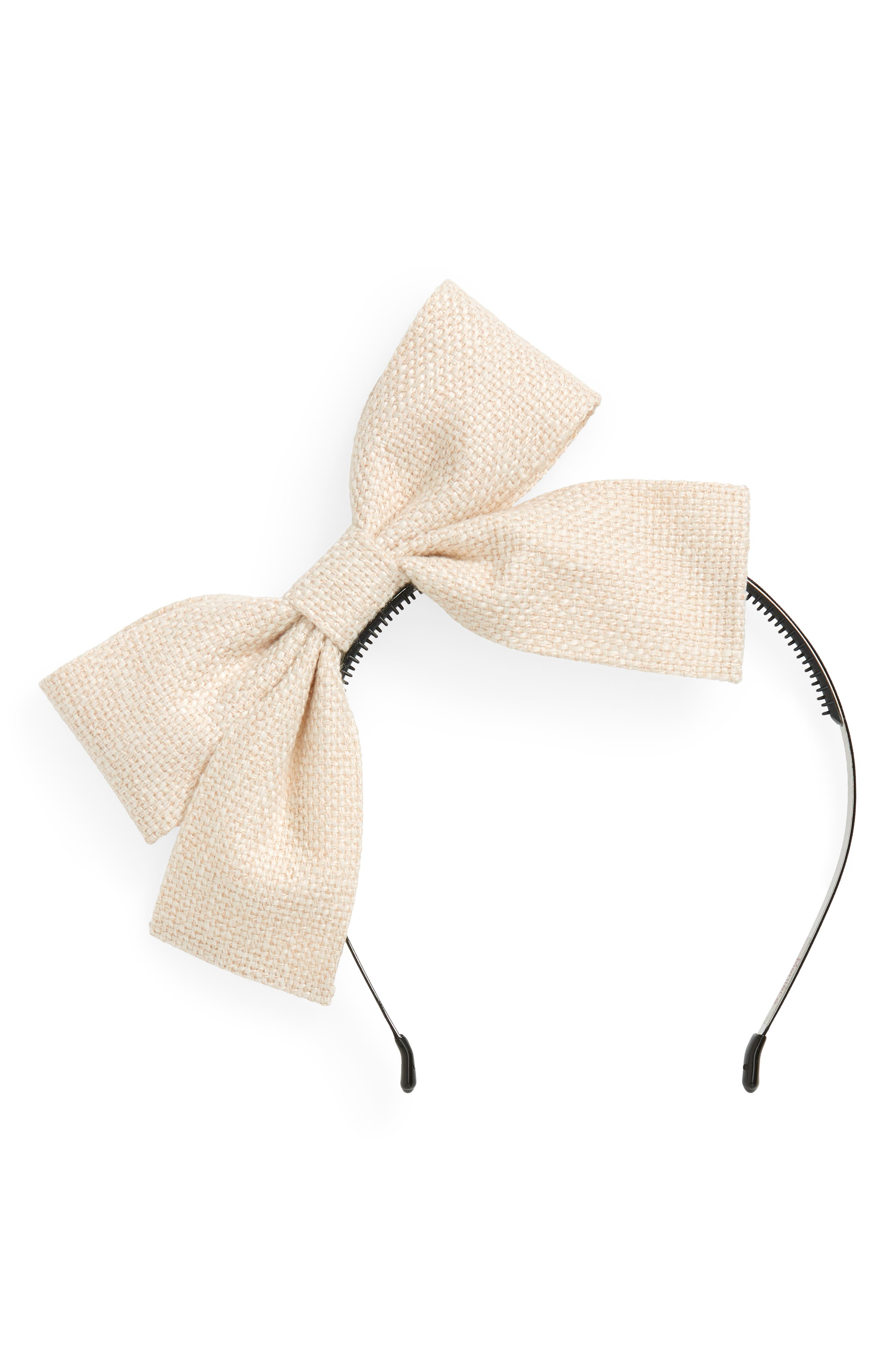 Burlap Bow Headband,                             Main thumbnail 1, color,                             900