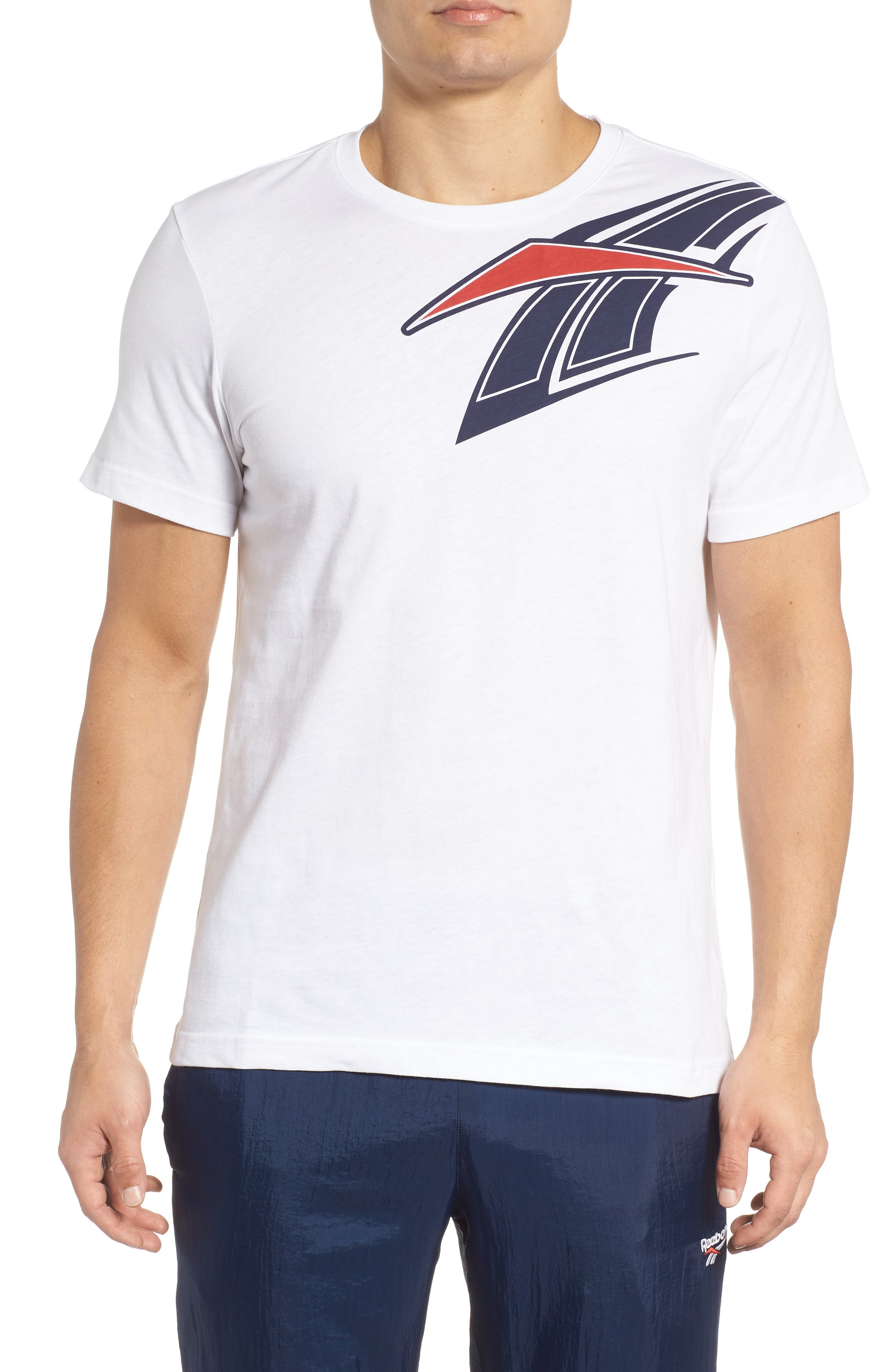 B-Ball Vector Logo T-Shirt,                             Main thumbnail 1, color,                             WHITE