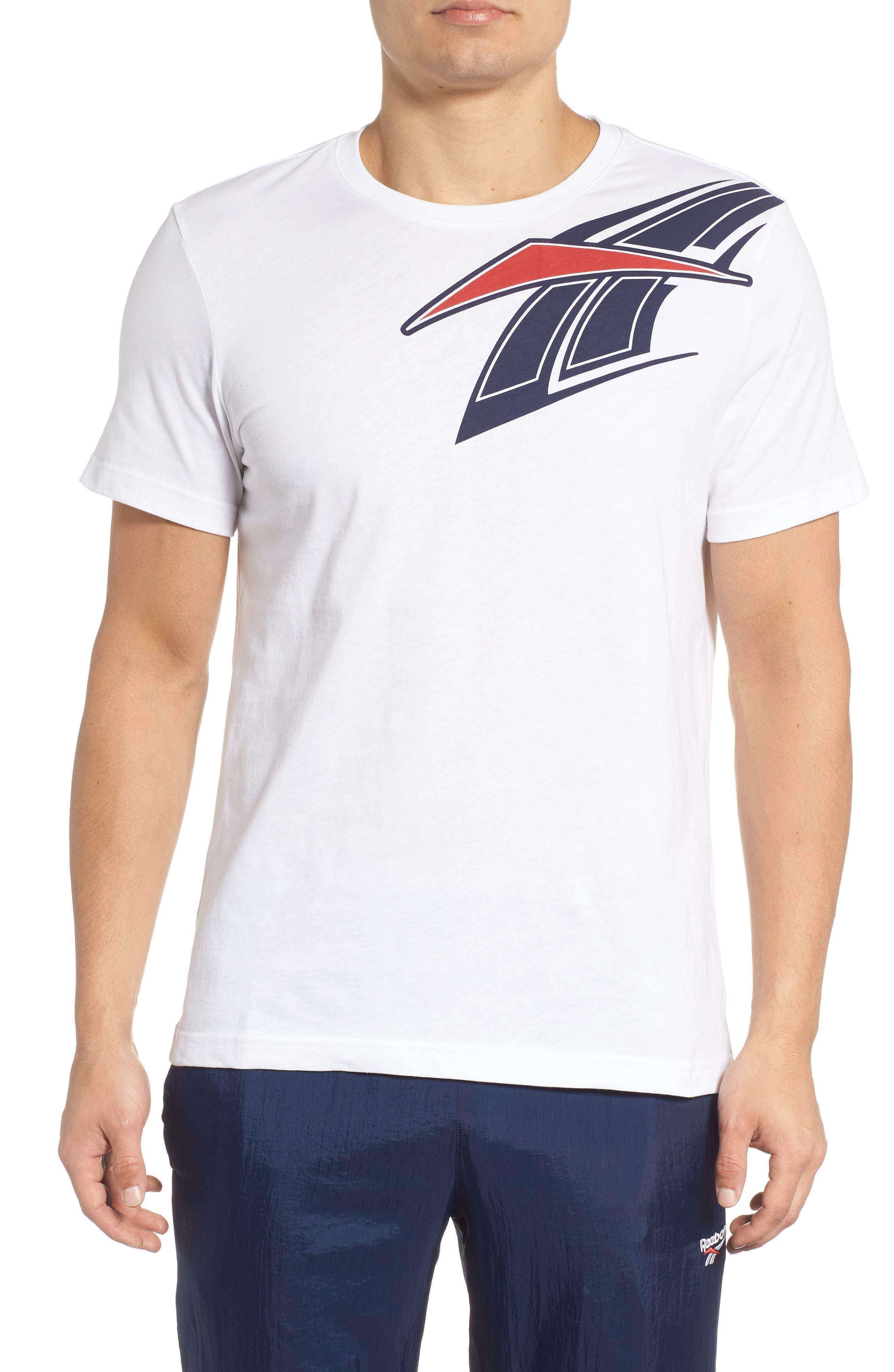B-Ball Vector Logo T-Shirt,                         Main,                         color, WHITE